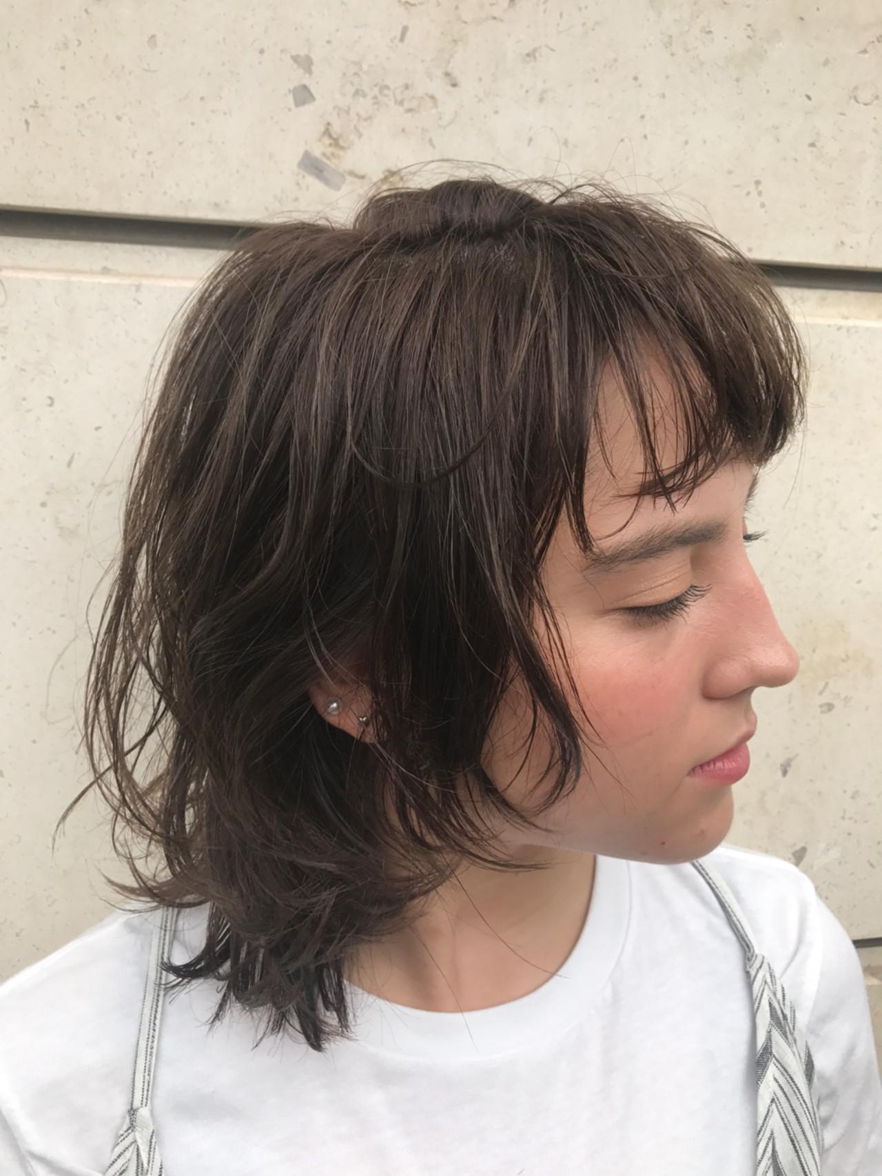 抜け感 リラックス ミディアム 大人かわいい ヘアスタイルや髪型の写真・画像 | 吉田直人 / tricca balcony hayama