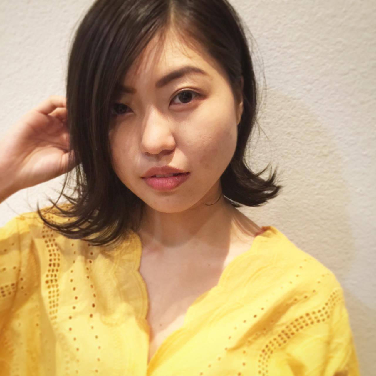 ヘアアレンジ ボブ 梅雨 ナチュラル ヘアスタイルや髪型の写真・画像 | 市川 和宏 / TSUKURU  (つくる)