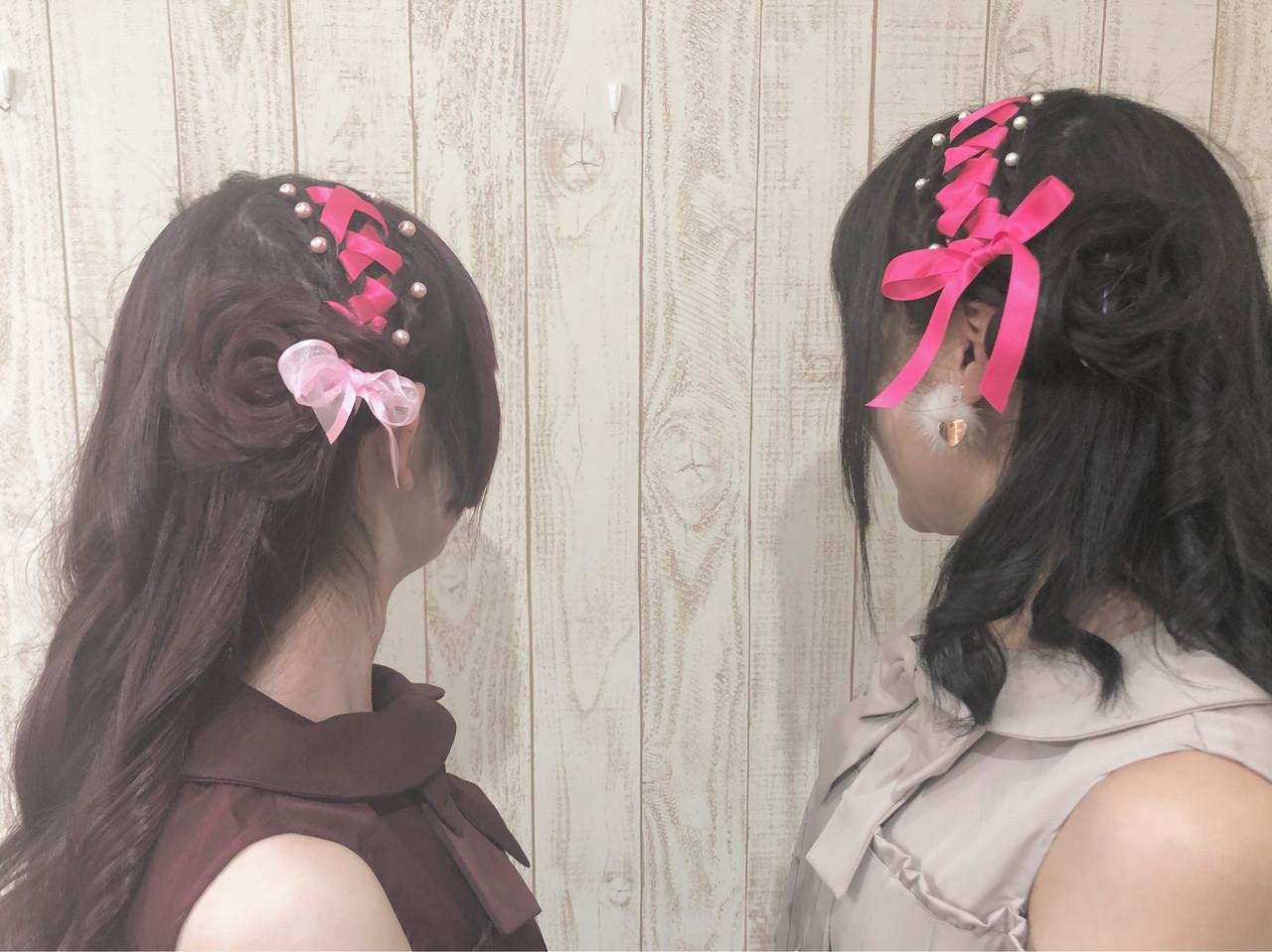 ガーリー ヘアメイク イベント リボン Lulu Satomi 444764 Hair