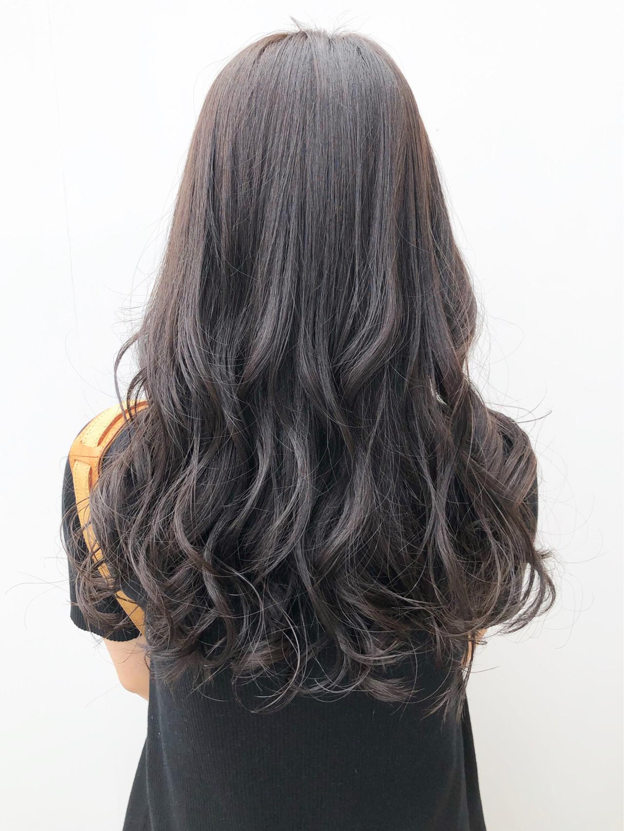 パーマ デジタルパーマ 黒髪 大人かわいい ヘアスタイルや髪型の写真・画像