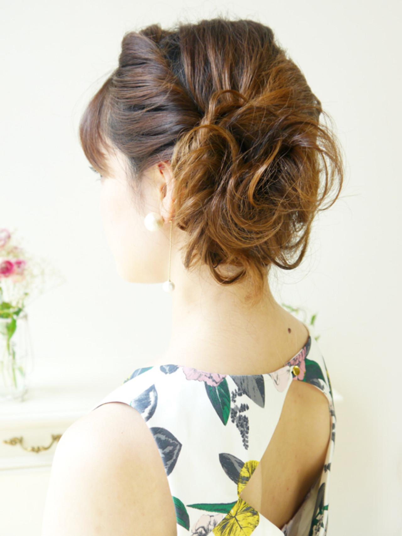 ヘアアレンジ セミロング 大人かわいい ショート ヘアスタイルや髪型の写真・画像