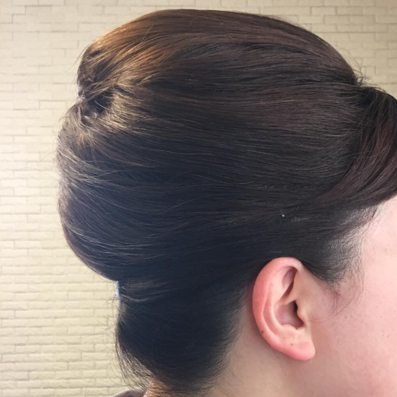 ミディアム エレガント 和装髪型 卒業式 ヘアスタイルや髪型の写真・画像