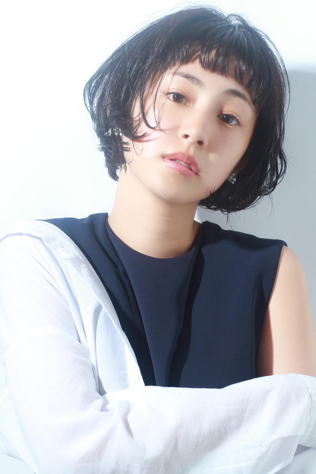 ショートボブ ナチュラル ボブ 黒髪 ヘアスタイルや髪型の写真・画像 | 宮崎 まさみ / APPiiS