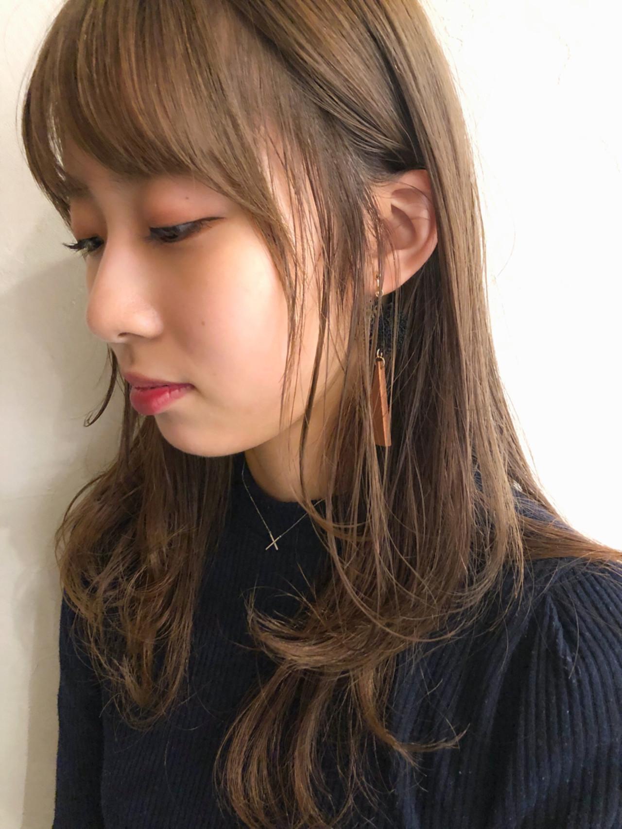 前髪あり エフォートレス 秋 透明感 ヘアスタイルや髪型の写真・画像