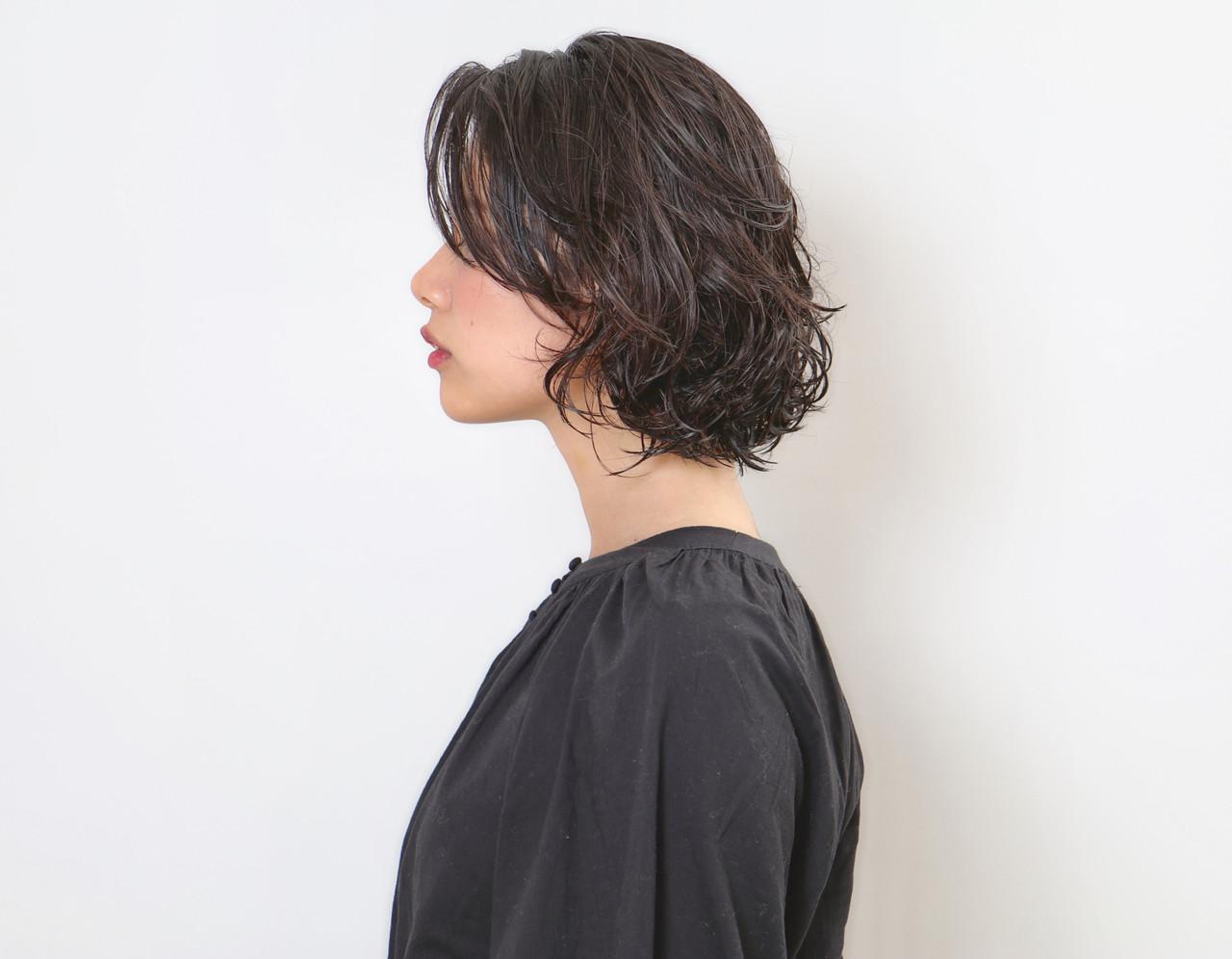 ナチュラル ショートボブ ボブ 切りっぱなしボブ ヘアスタイルや髪型の写真・画像