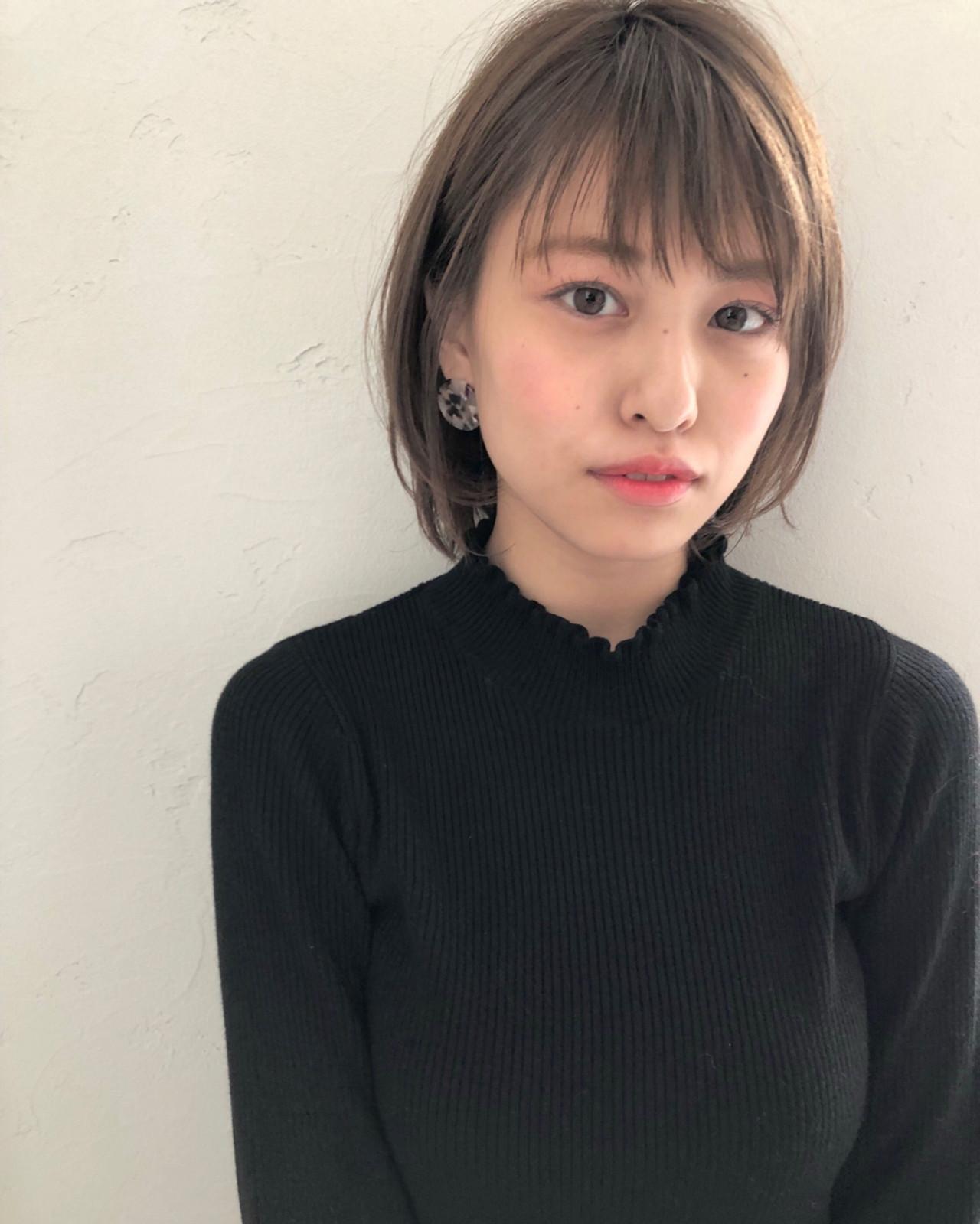 ボブ オフィス デート 黒髪 ヘアスタイルや髪型の写真・画像 | ナガヤ アキラ joemi 新宿 / joemi by Un ami