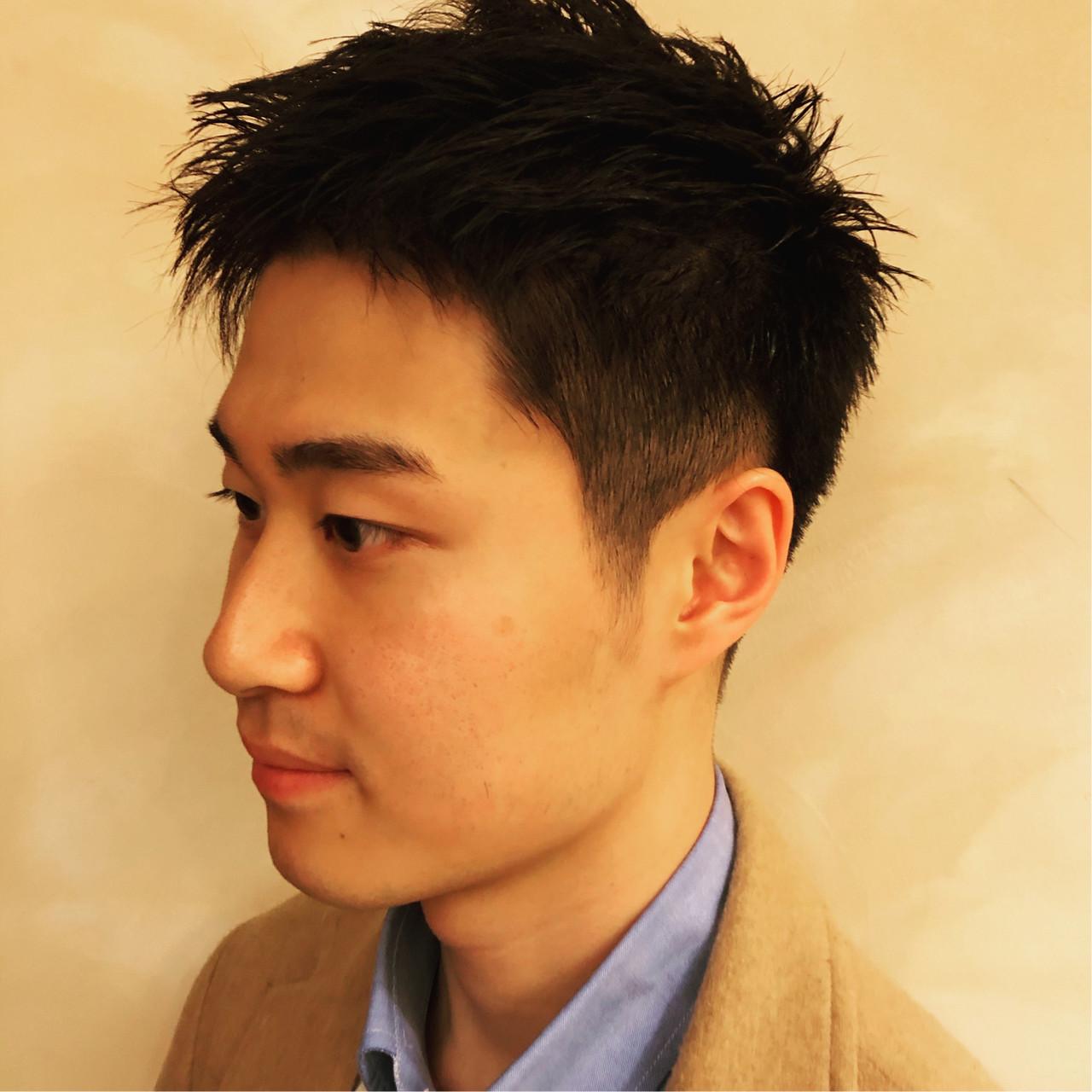 ショート 刈り上げ 黒髪 メンズ ヘアスタイルや髪型の写真・画像 | 勝永 智基 / BEAUTRIUM  265