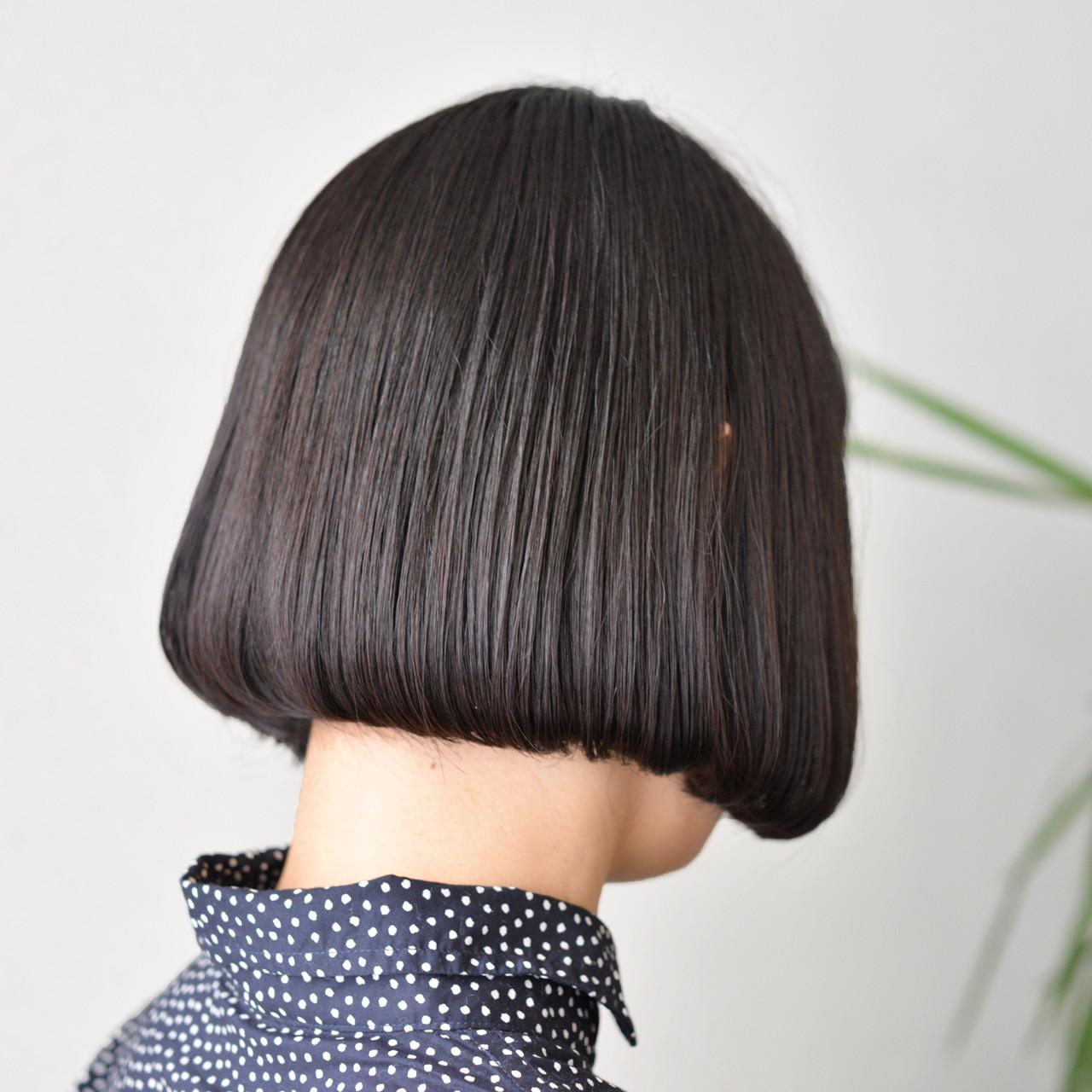 アッシュ 色気 ボブ モード ヘアスタイルや髪型の写真・画像