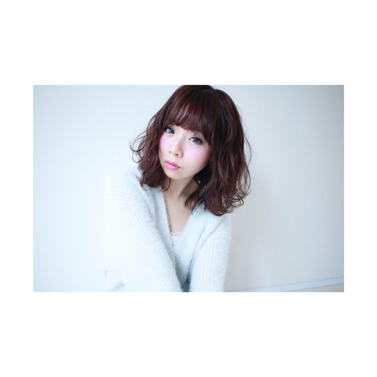 ミルクティー セミロング ボブ ミディアム ヘアスタイルや髪型の写真・画像 | seikan / vifkrone hair&beauty