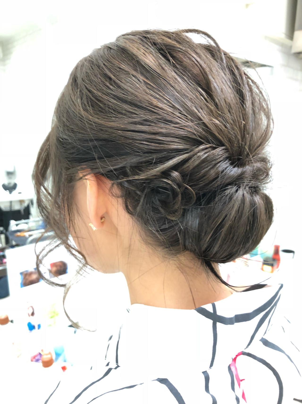パーティ ミディアム ヘアアレンジ 結婚式 ヘアスタイルや髪型の写真・画像