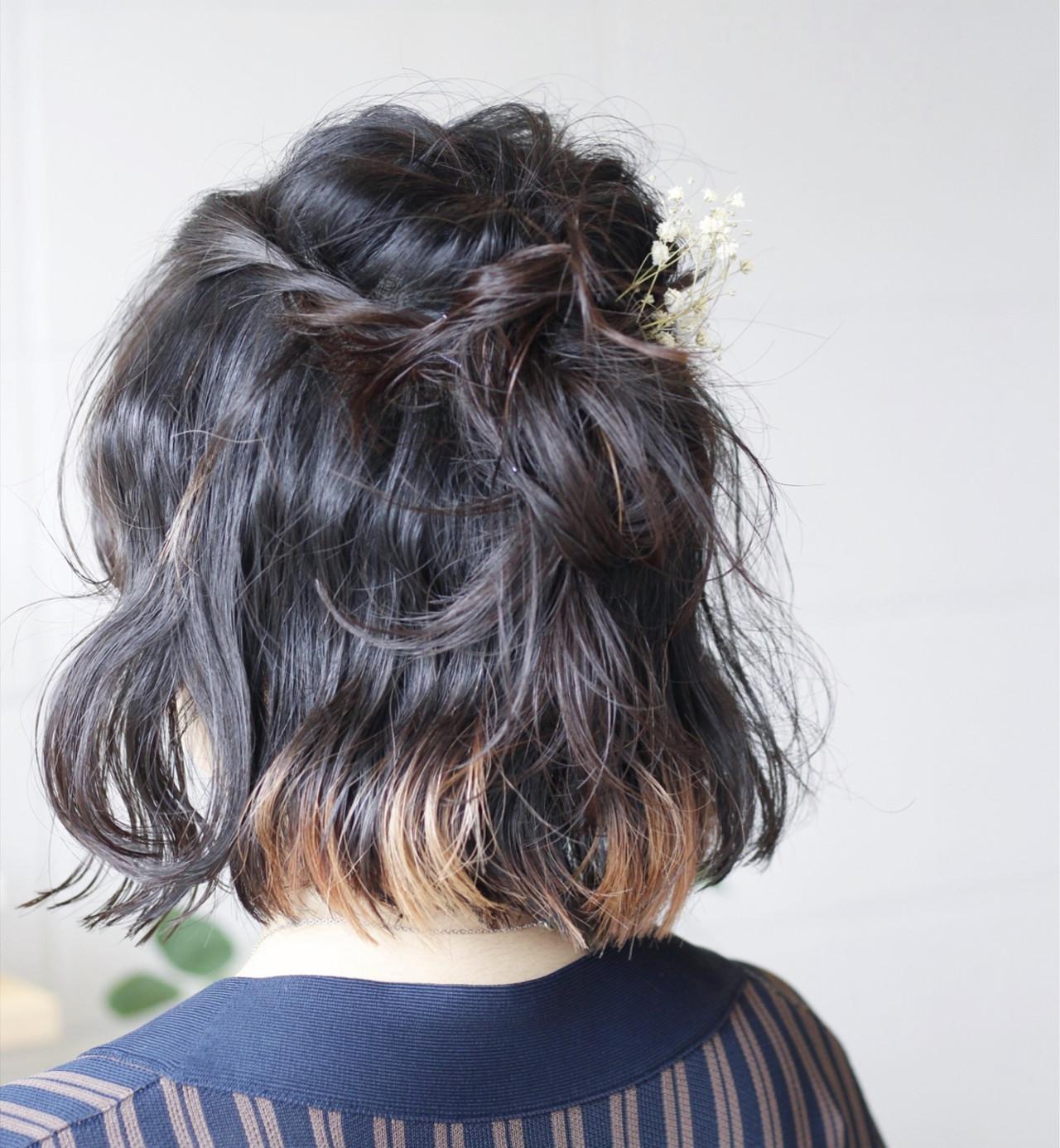 ナチュラル 夏 大人かわいい ヘアアレンジ ヘアスタイルや髪型の写真・画像