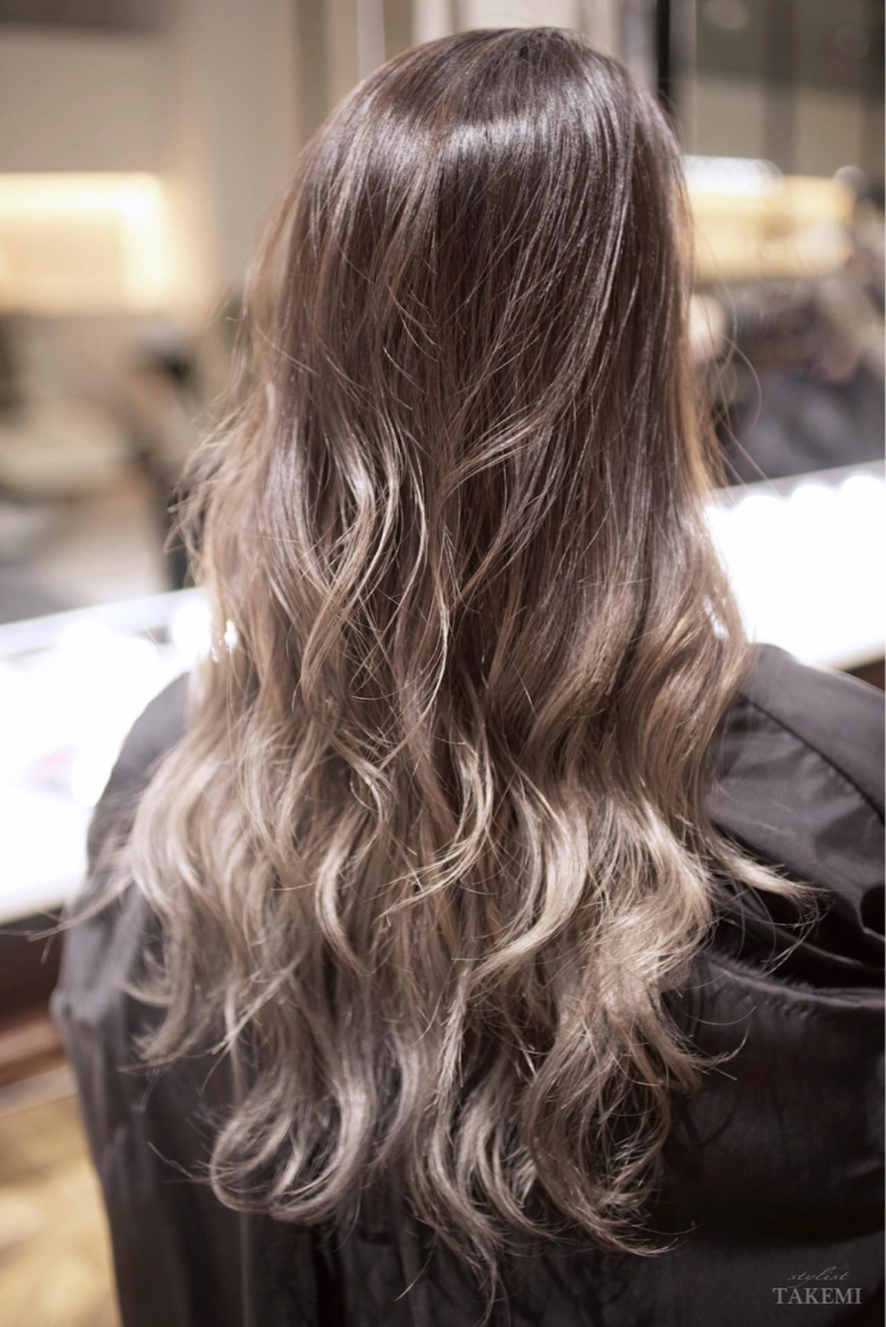 外国人風カラー ロング ダブルカラー ガーリー ヘアスタイルや髪型の写真・画像
