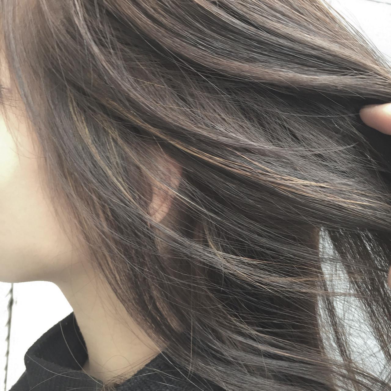 ボブ ミディアム アッシュ 大人かわいい ヘアスタイルや髪型の写真・画像