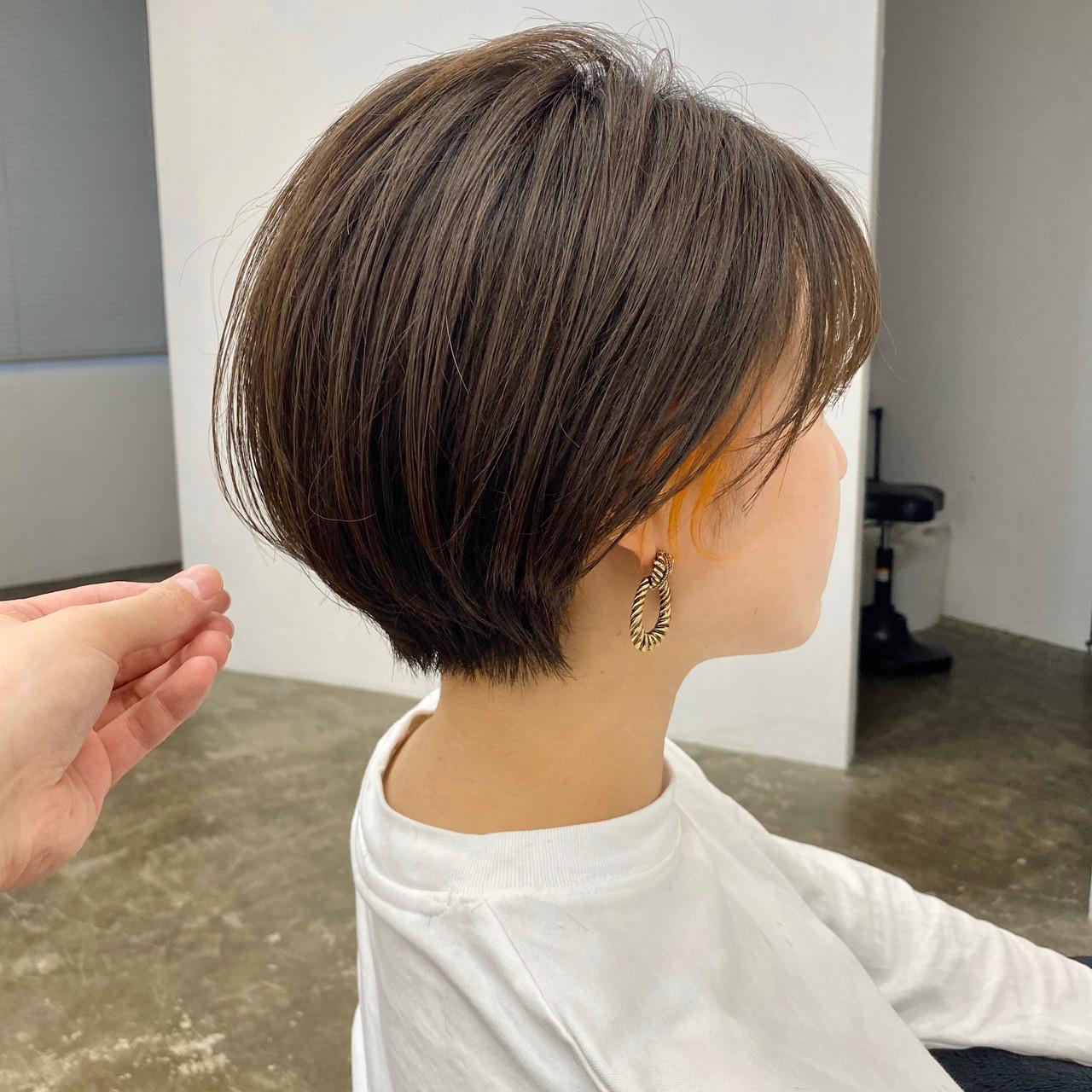 ショートヘア 大人ショート 丸みショート ナチュラル ヘアスタイルや髪型の写真・画像 | 【ショート&ショートボブはお任せください】淺川聖 / parc sapporo