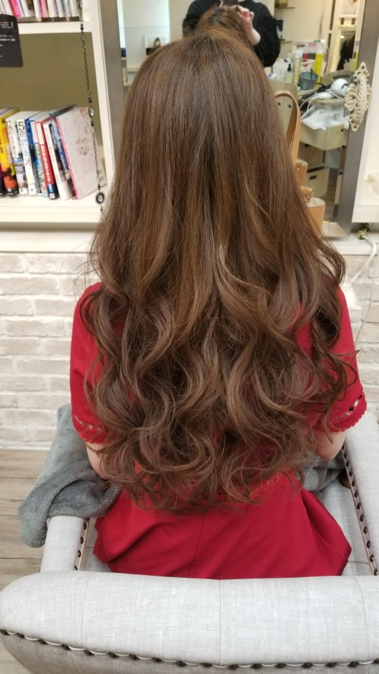 ロング 愛され ヘアアレンジ アンニュイ ヘアスタイルや髪型の写真・画像