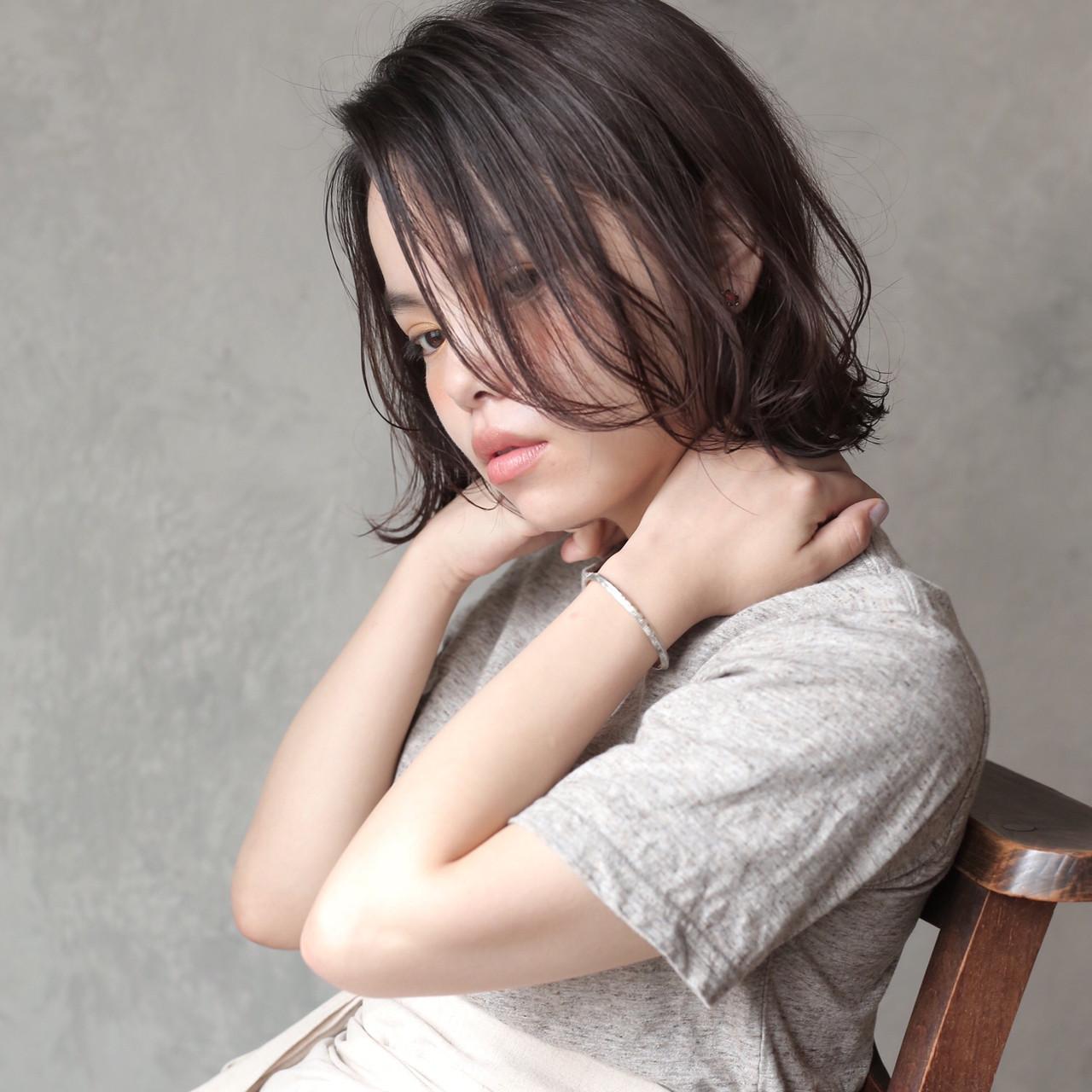 簡単スタイリング ミニボブ 透明感カラー ボブ ヘアスタイルや髪型の写真・画像 | 道具朝美.top stylist / ELICA.下北沢