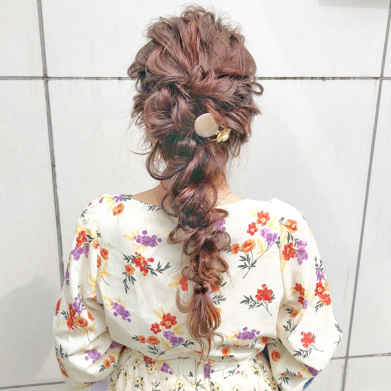 簡単ヘアアレンジ ヘアアレンジ ナチュラル デート ヘアスタイルや髪型の写真・画像
