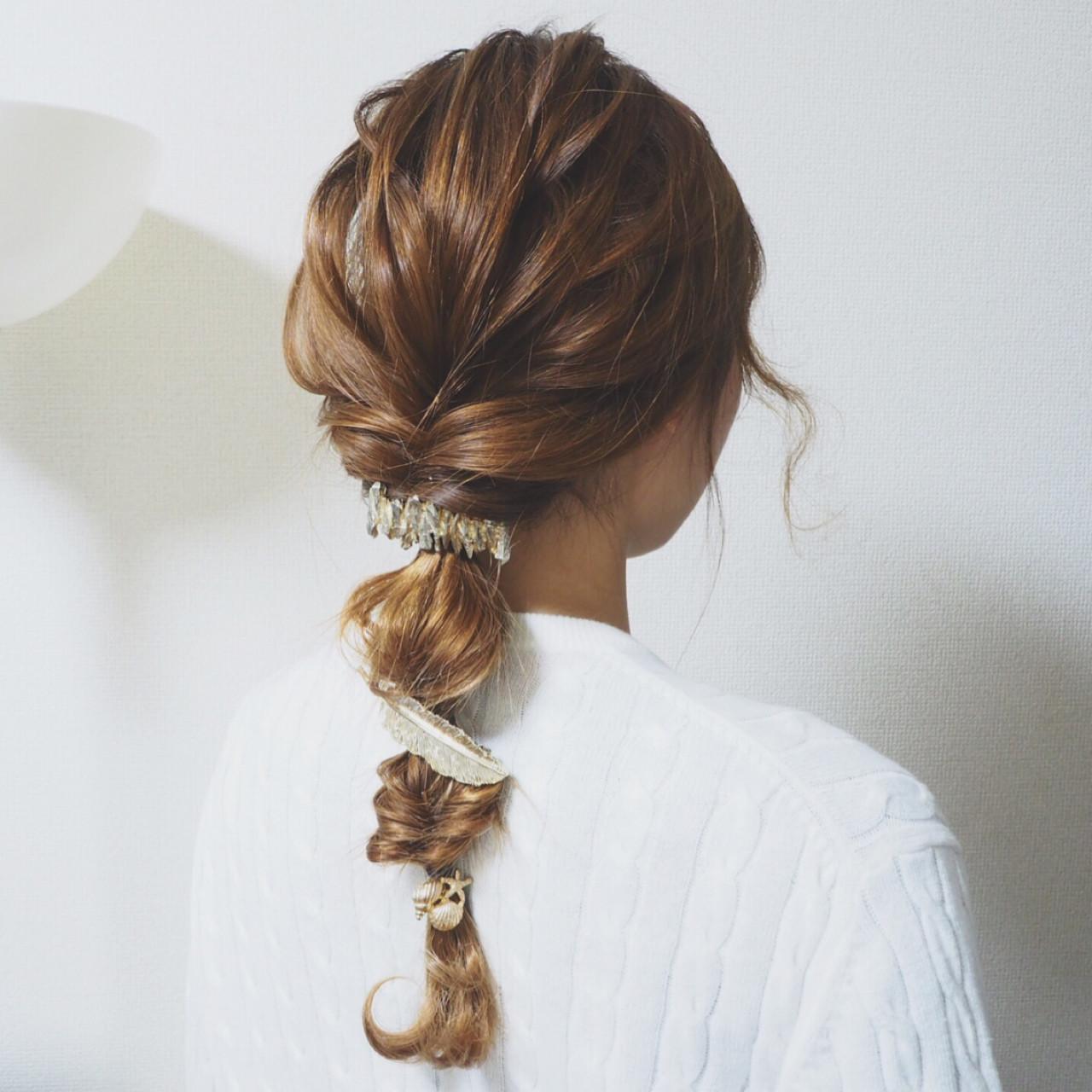 モテ髪 簡単ヘアアレンジ 大人かわいい 愛され ヘアスタイルや髪型の写真・画像