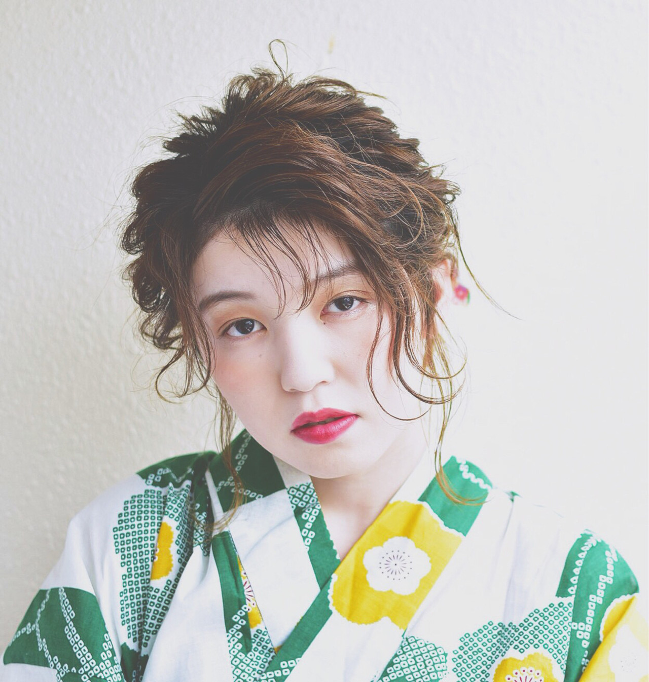 涼しげ 夏 フェミニン 花火大会 ヘアスタイルや髪型の写真・画像