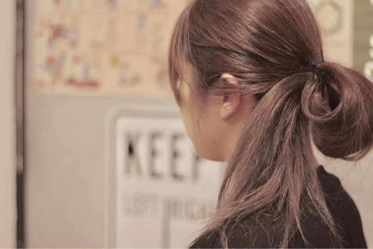 ストリート アッシュ アッシュグラデーション セミロング ヘアスタイルや髪型の写真・画像
