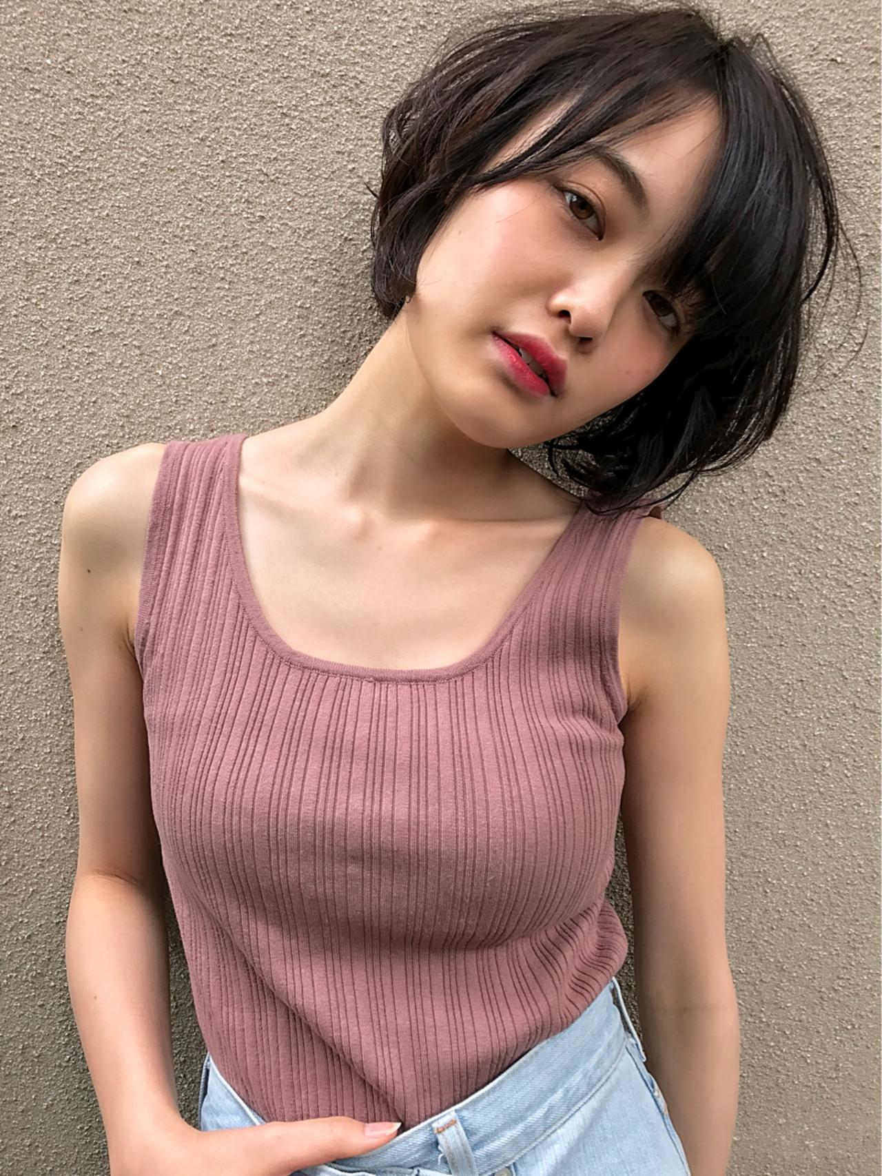 夏 透明感 黒髪 春 ヘアスタイルや髪型の写真・画像 | Kohe Kamijo / Zina Central