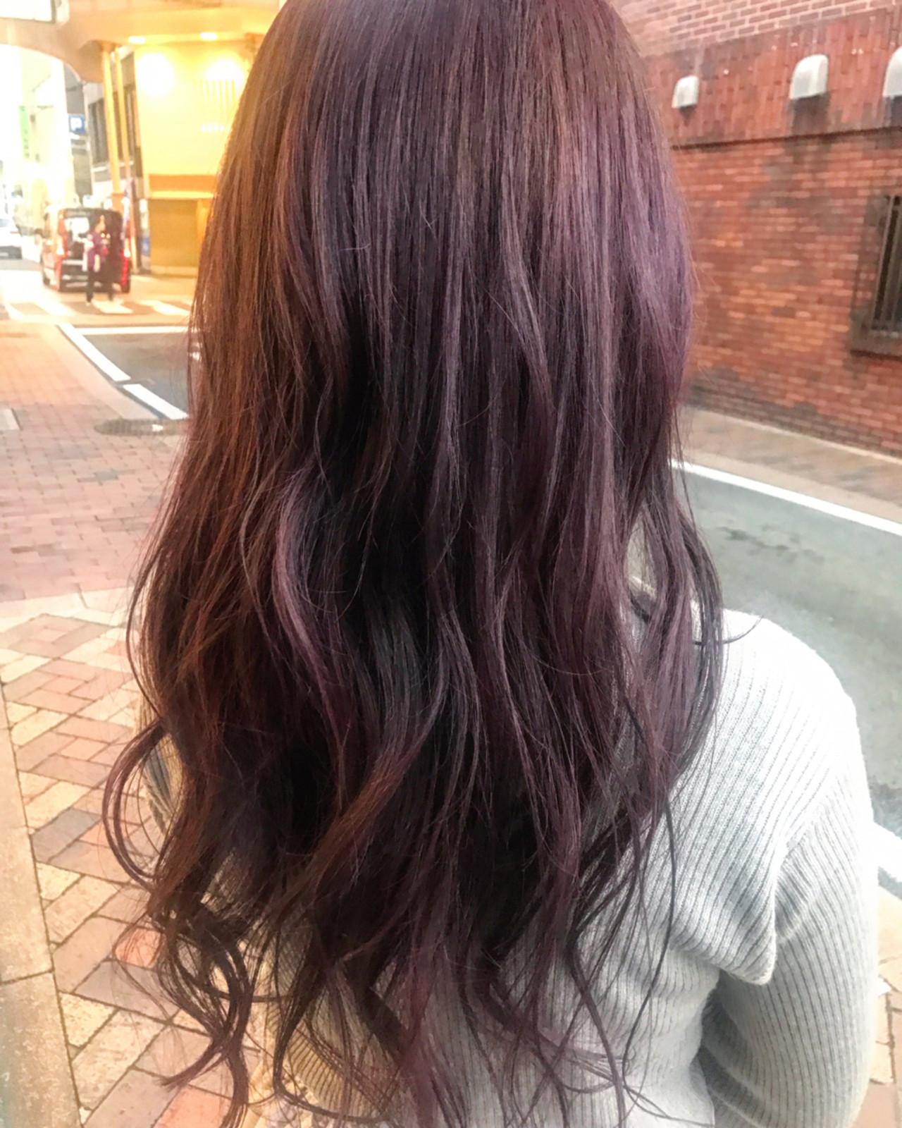 秋 ガーリー ラベンダーピンク 透明感 ヘアスタイルや髪型の写真・画像