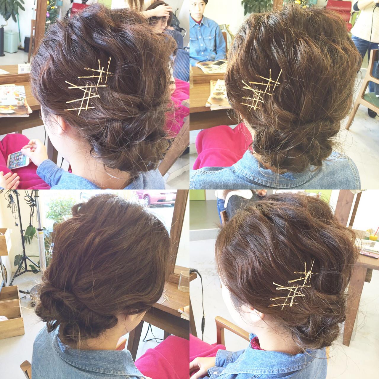 ショート ゆるふわ 大人かわいい 簡単ヘアアレンジ ヘアスタイルや髪型の写真・画像 | 原木翔太 / lufun hair design  ルファン