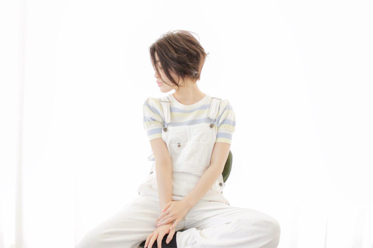 抜け感 ボブ 大人かわいい グラデーションカラー ヘアスタイルや髪型の写真・画像   川嶋 祐 / KIKKAKE@Depth