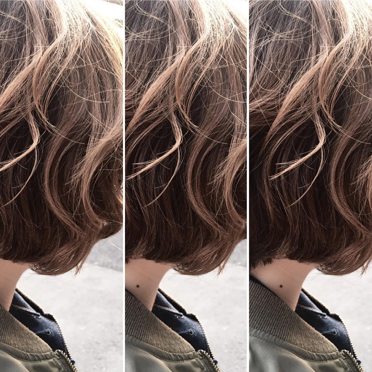 ハイライト アッシュ ナチュラル ニュアンス ヘアスタイルや髪型の写真・画像 | 植野 朋樹 / chaleurシャルール
