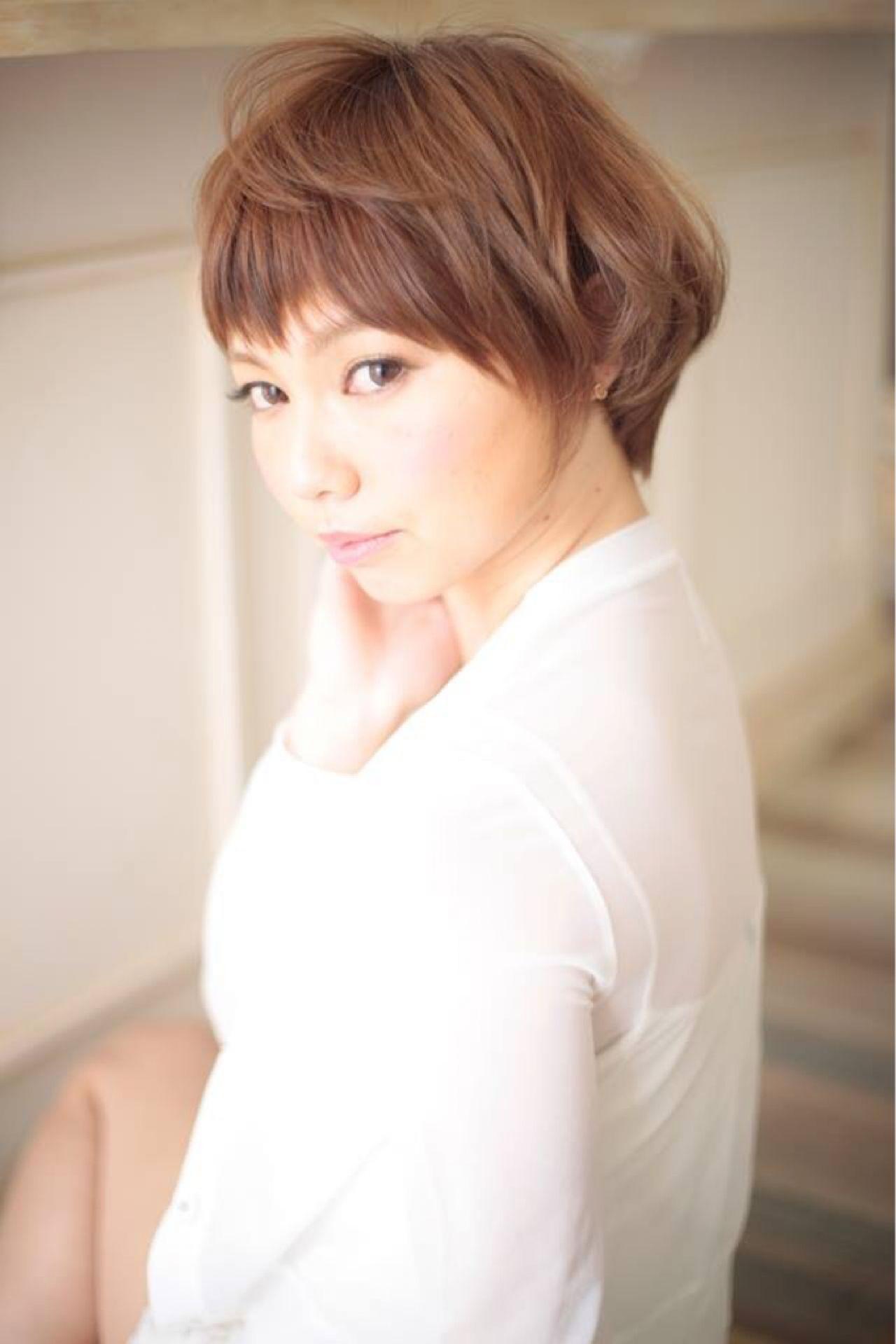 フェミニン ナチュラル 丸顔 大人かわいい ヘアスタイルや髪型の写真・画像
