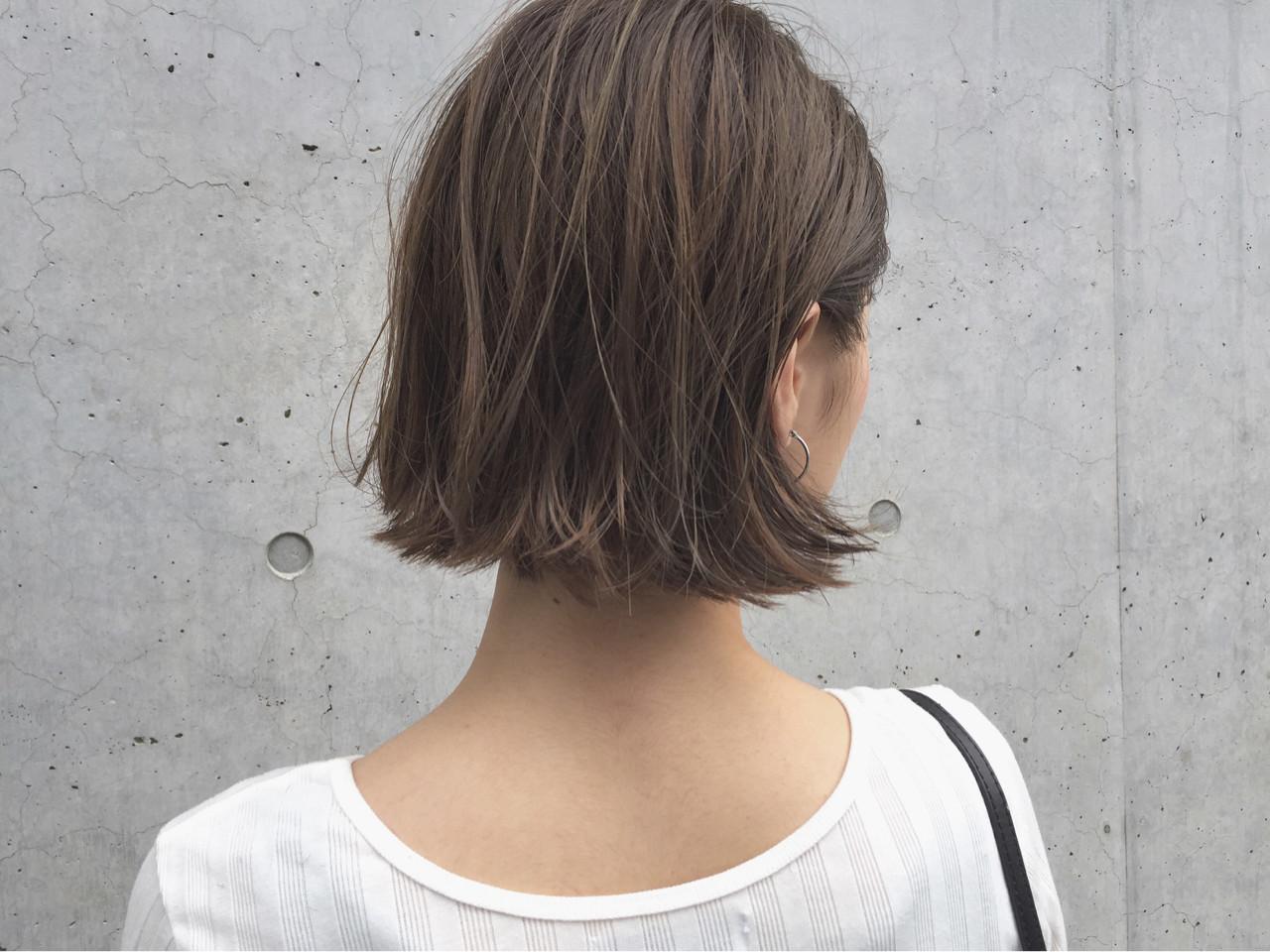 リラックス 切りっぱなし ナチュラル ハイライト ヘアスタイルや髪型の写真・画像