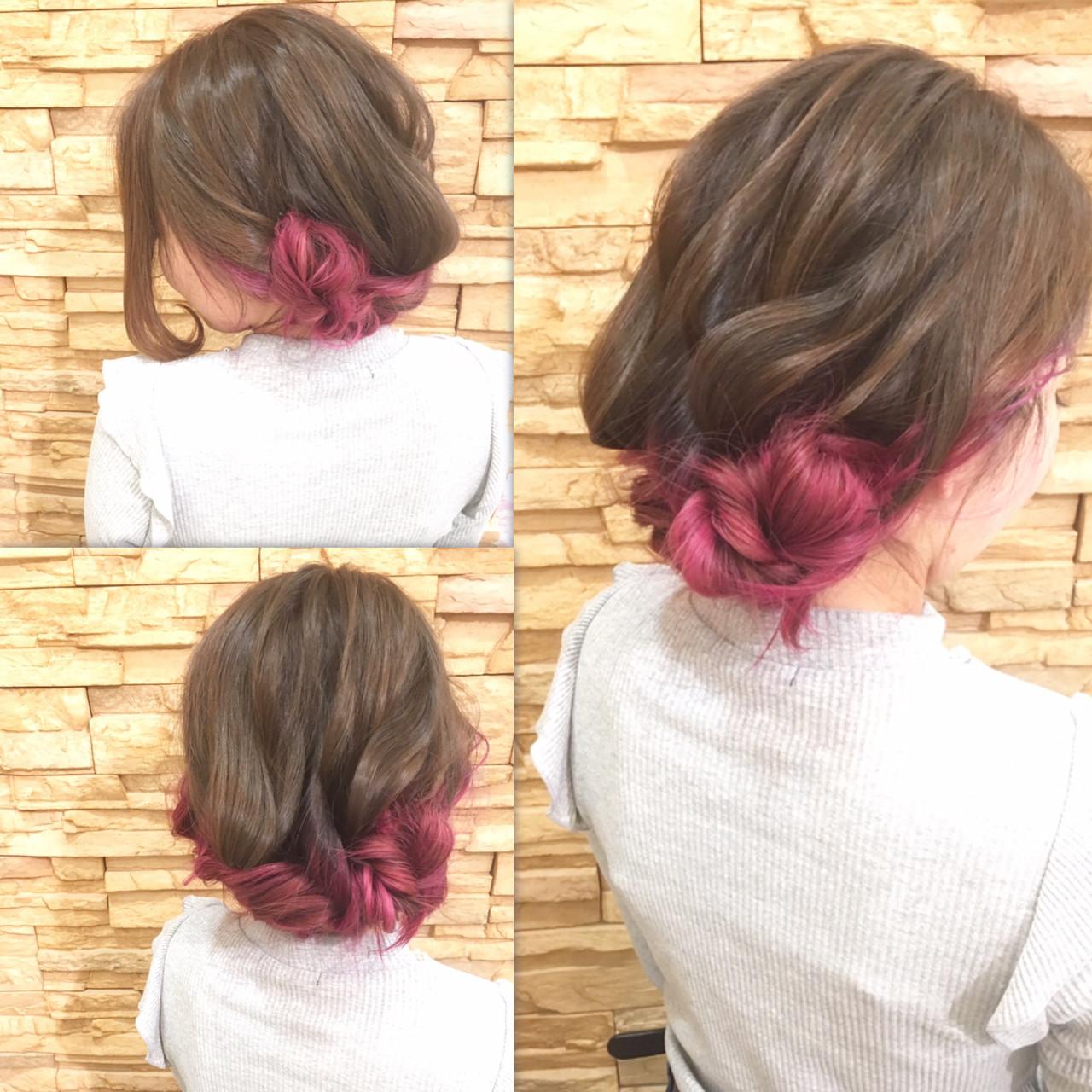 バレンタイン ロング フェミニン ヘアアレンジ ヘアスタイルや髪型の写真・画像 | 庄司 将之 / Quartettカルテット
