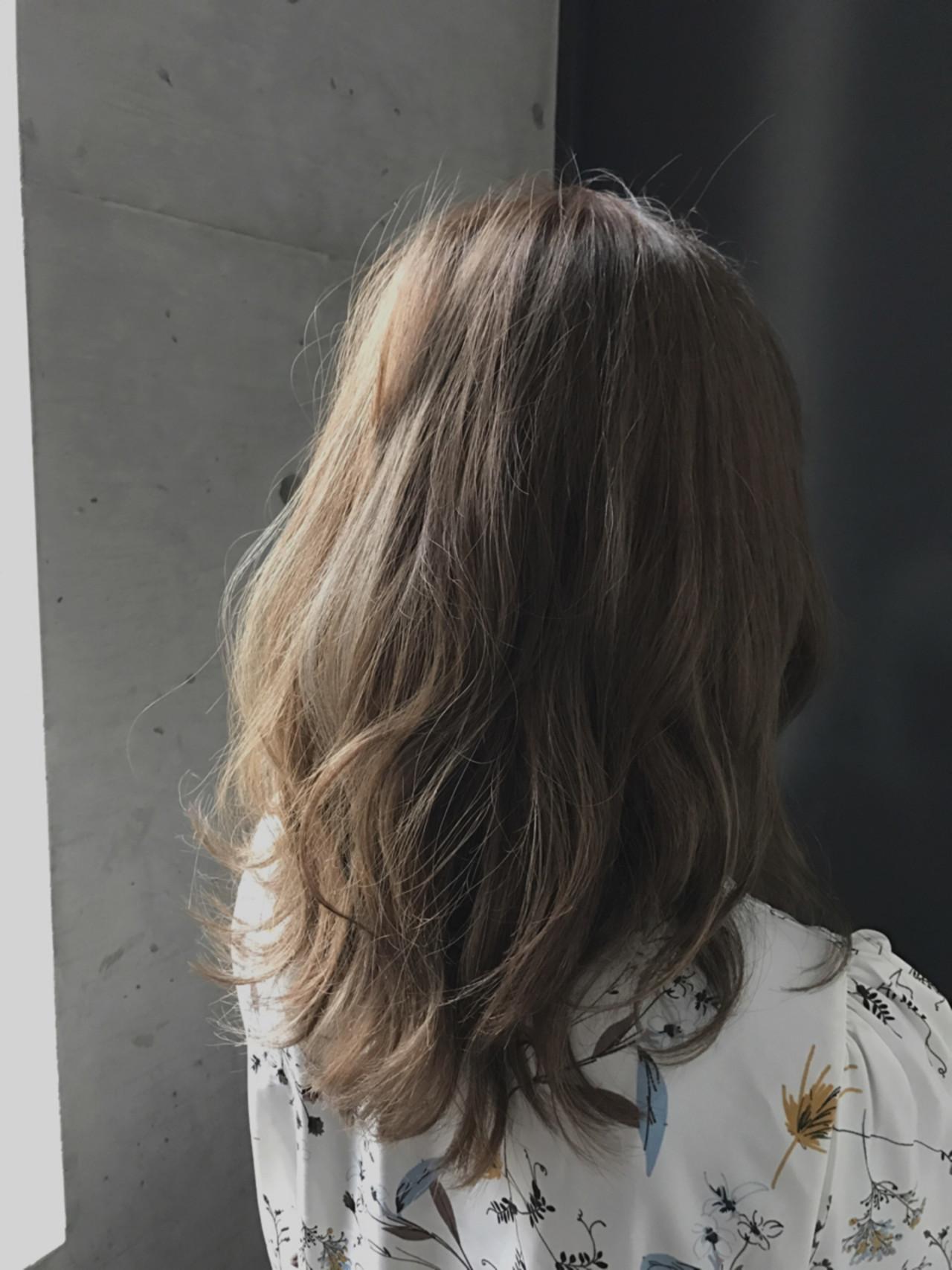 女子力 フェミニン ハイライト ゆるふわ ヘアスタイルや髪型の写真・画像 | 中尾 佳美 / Private salon Len