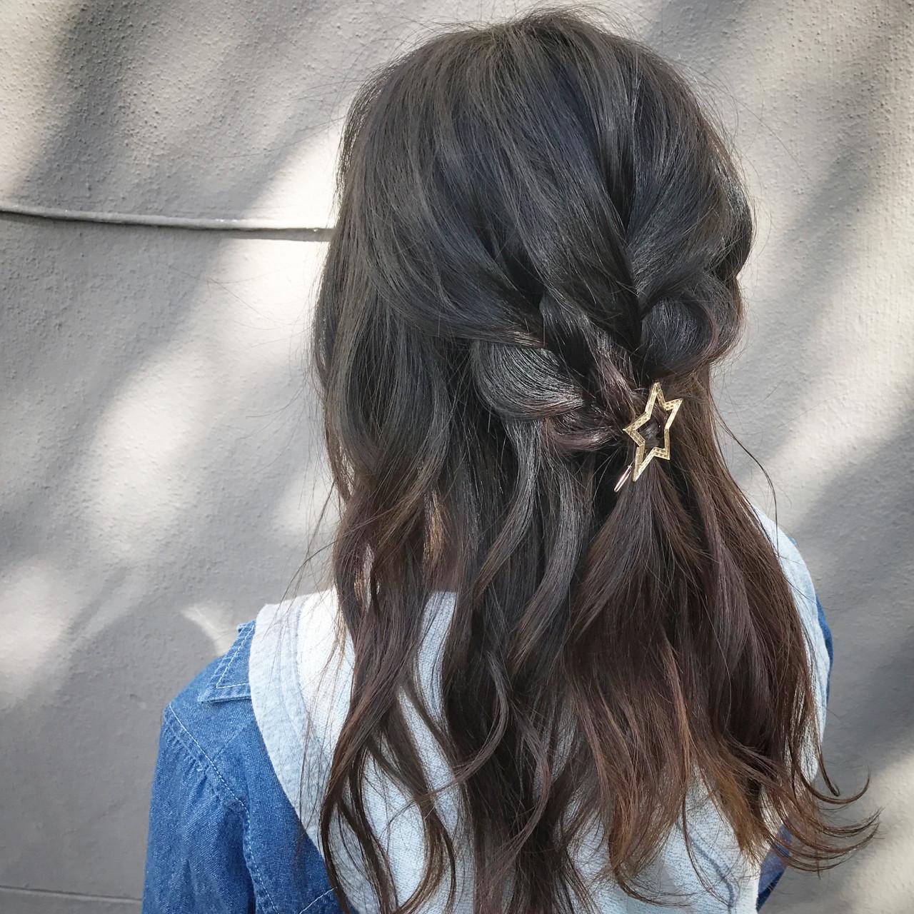 女子会 ナチュラル セミロング デート ヘアスタイルや髪型の写真・画像 | 新谷 朋宏 / Free hairstylist shinya