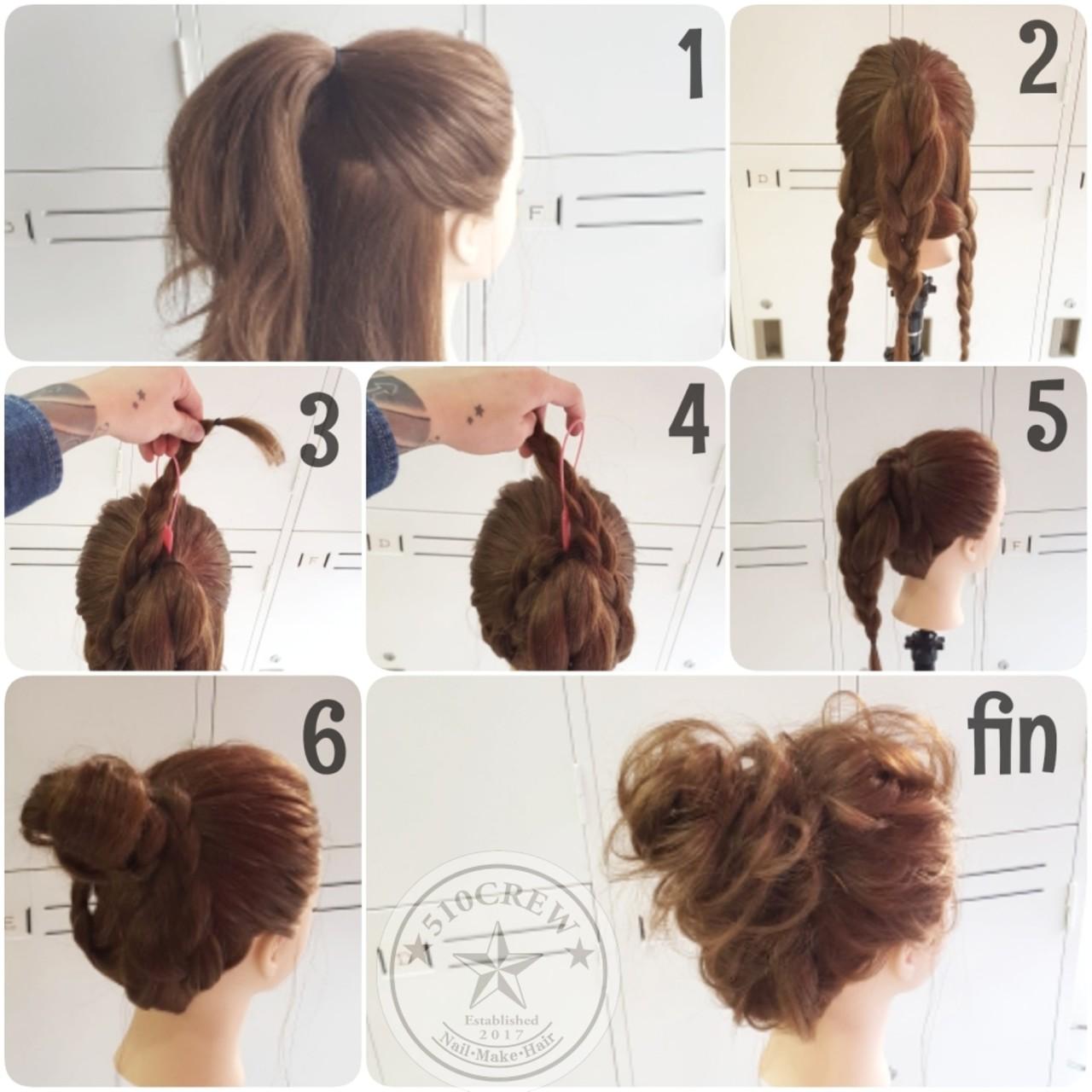 大人かわいい 簡単ヘアアレンジ ロング ショート ヘアスタイルや髪型の写真・画像