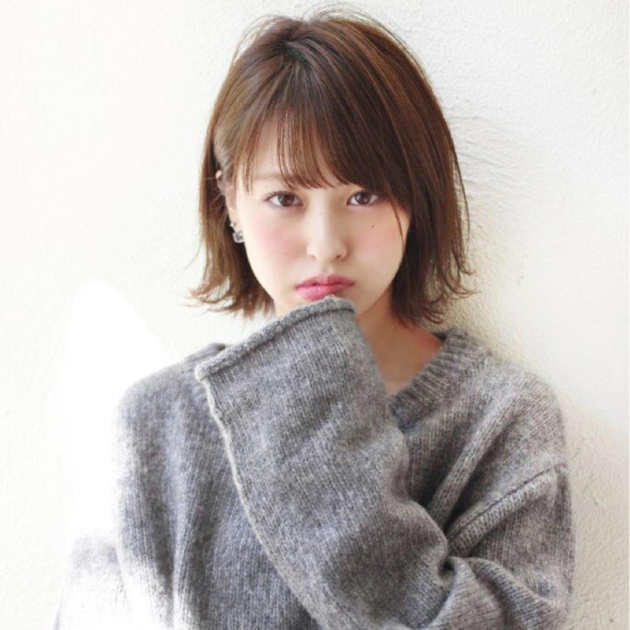 パーマ 小顔 ガーリー ニュアンス ヘアスタイルや髪型の写真・画像 | 切りっぱなしボブを流行らせた人 Un ami増永 / Un ami omotesando