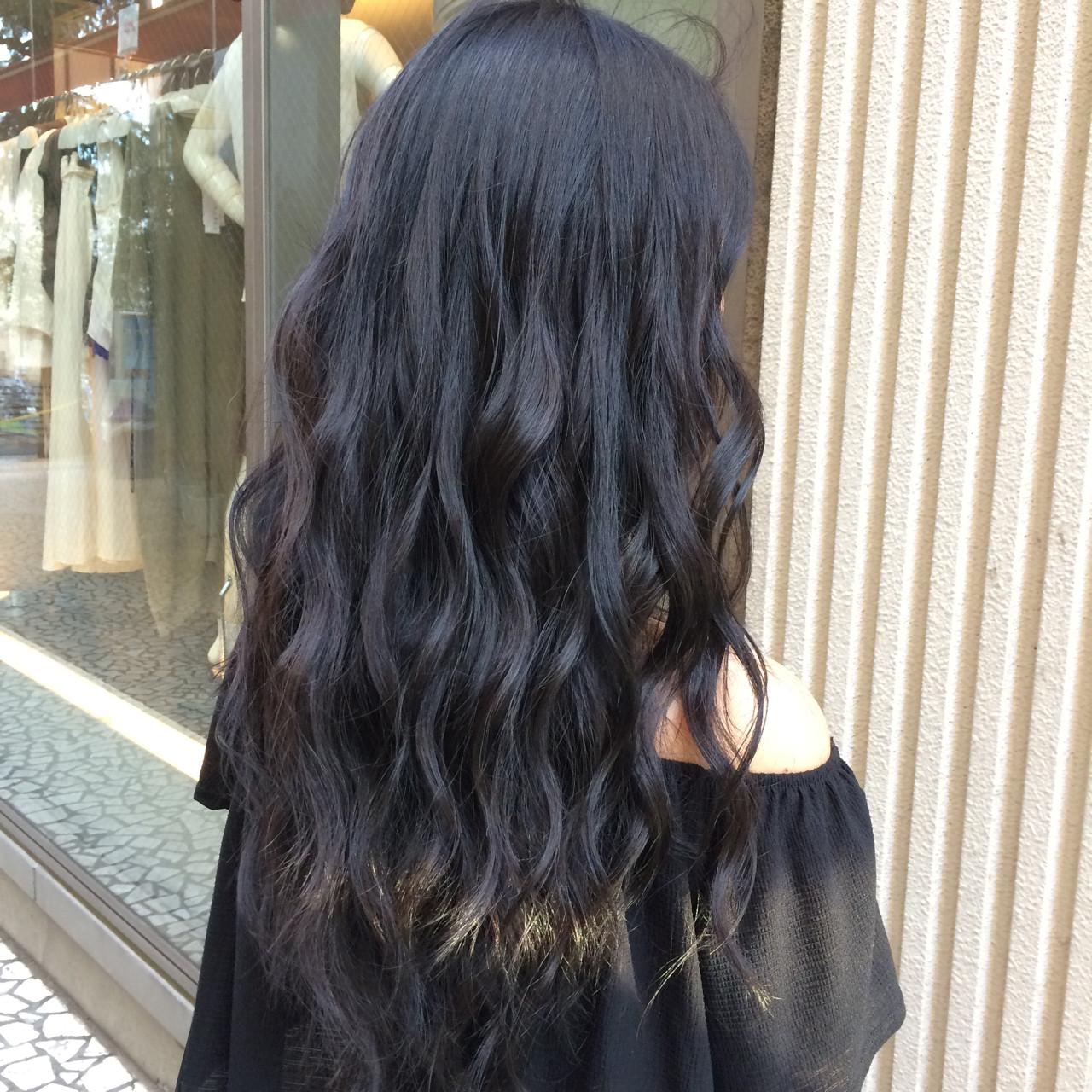 大人かわいい 暗髪 ロング ハイライト ヘアスタイルや髪型の写真・画像 | 青野拓美 / ISM 南青山店
