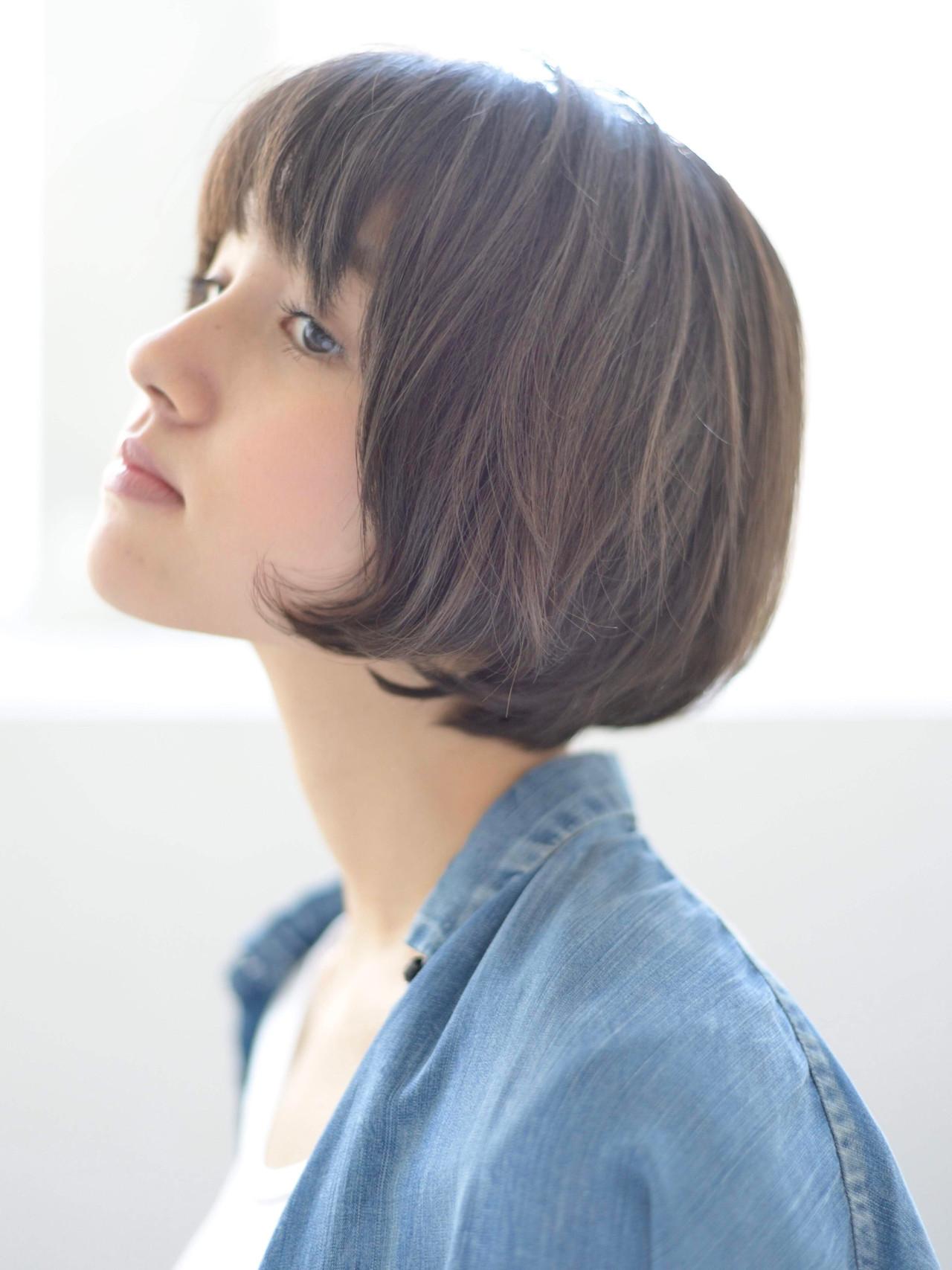 マッシュ ミニボブ ショートボブ ショートヘア ヘアスタイルや髪型の写真・画像 | 郡司 泰之 / ROJITHA 原宿 / ROJITHA