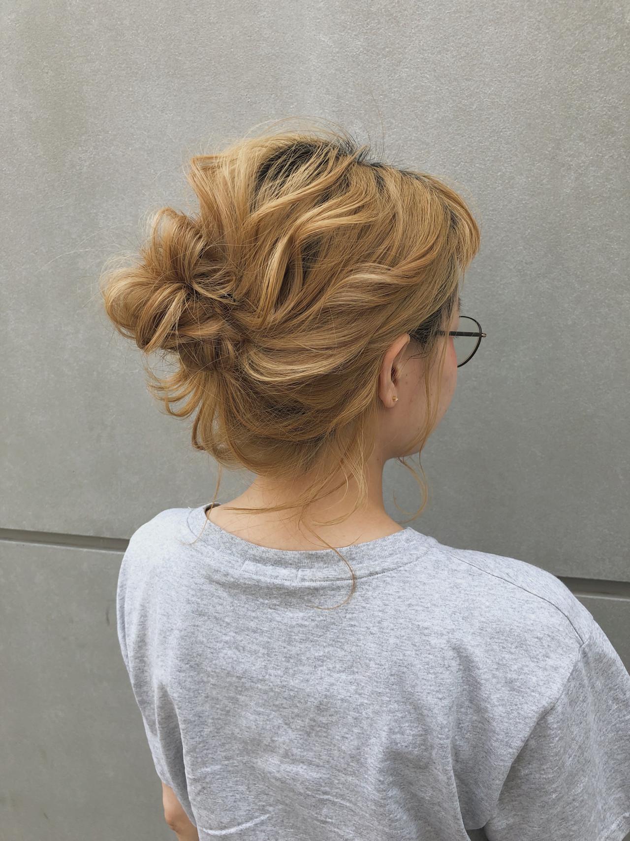 スポーツ アウトドア ナチュラル 簡単ヘアアレンジ ヘアスタイルや髪型の写真・画像