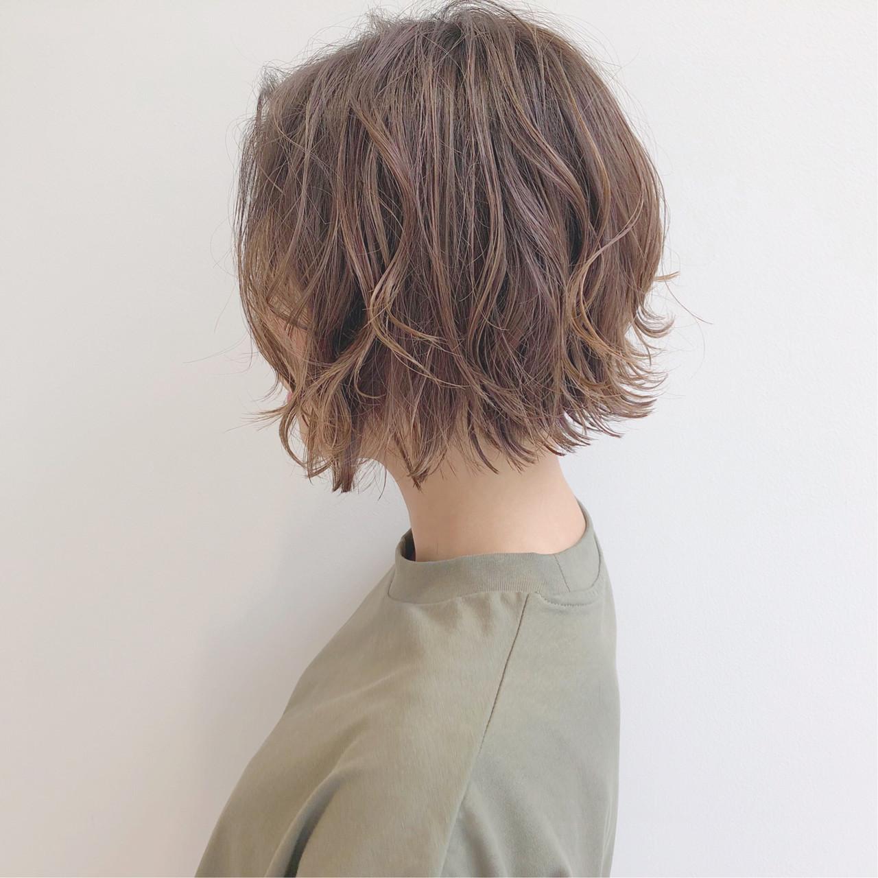 簡単ヘアアレンジ デート ボブ オフィス ヘアスタイルや髪型の写真・画像