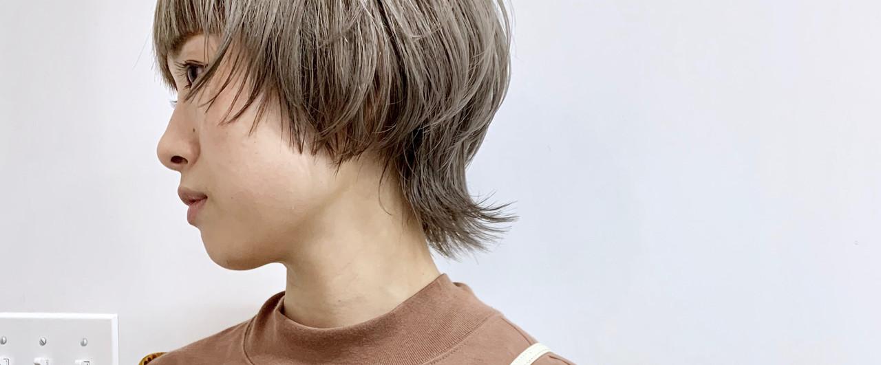 ハイトーン ショート ウルフカット ストリート ヘアスタイルや髪型の写真・画像
