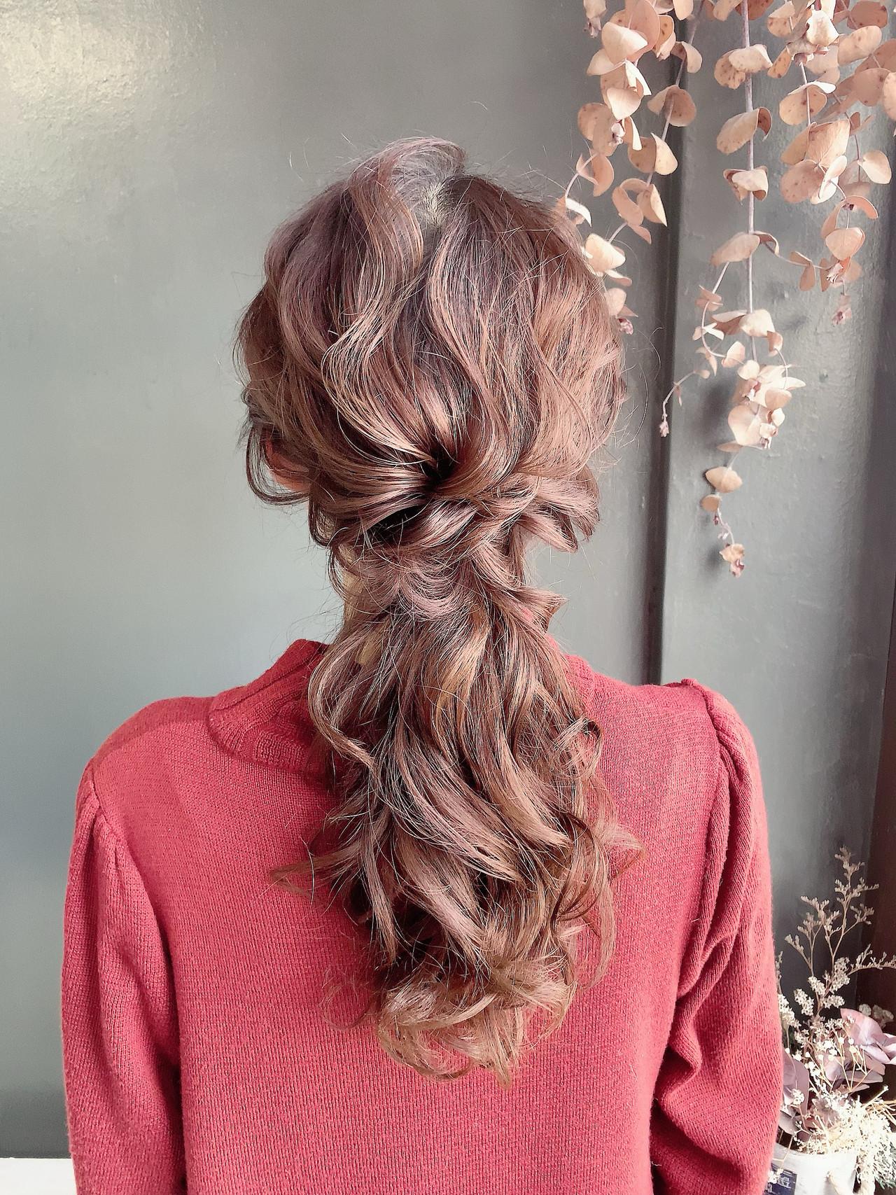 ロング ハーフアップ ヘアアレンジ 結婚式ヘアアレンジ ヘアスタイルや髪型の写真・画像