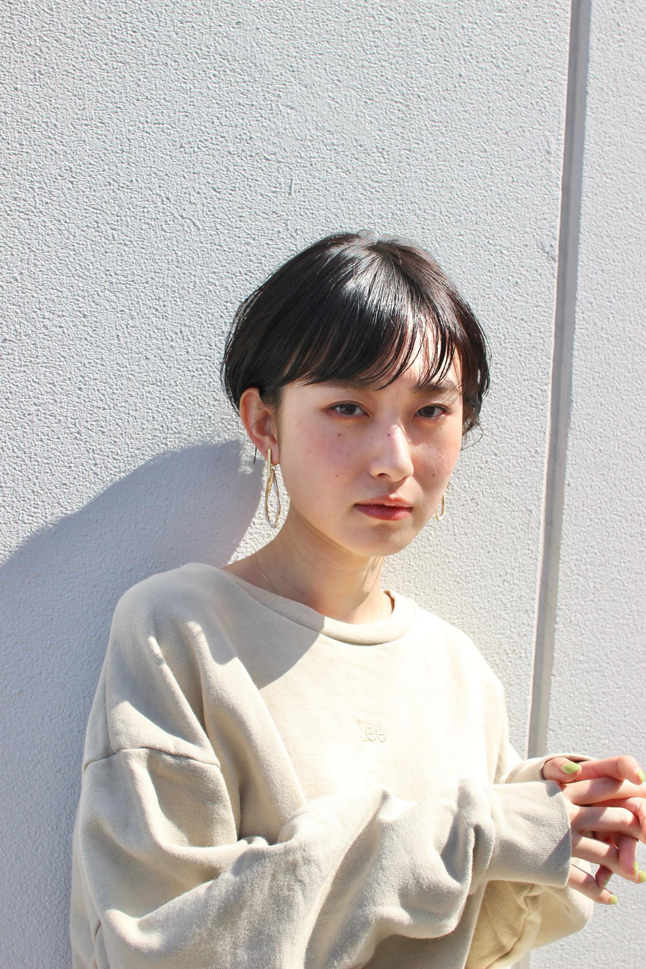 ナチュラル 大人ショート ショートボブ 小顔ショート ヘアスタイルや髪型の写真・画像   児玉善央 / GARDEN harajuku