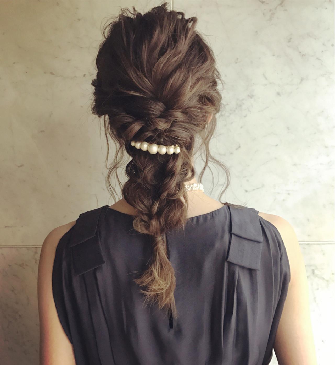 ナチュラル ヘアアレンジ セミロング 透明感 ヘアスタイルや髪型の写真・画像
