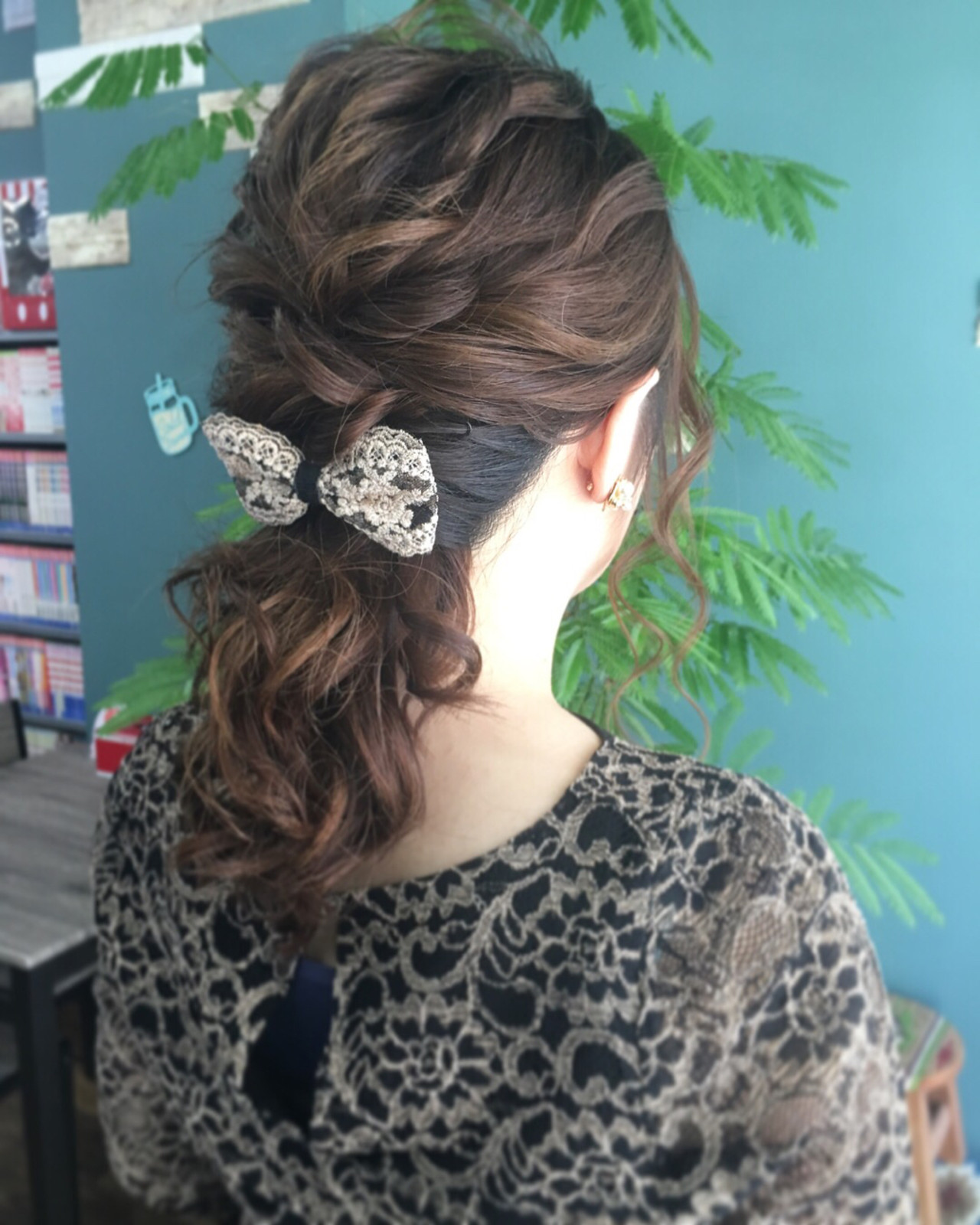 結婚式 ミディアム 上品 エレガント ヘアスタイルや髪型の写真・画像
