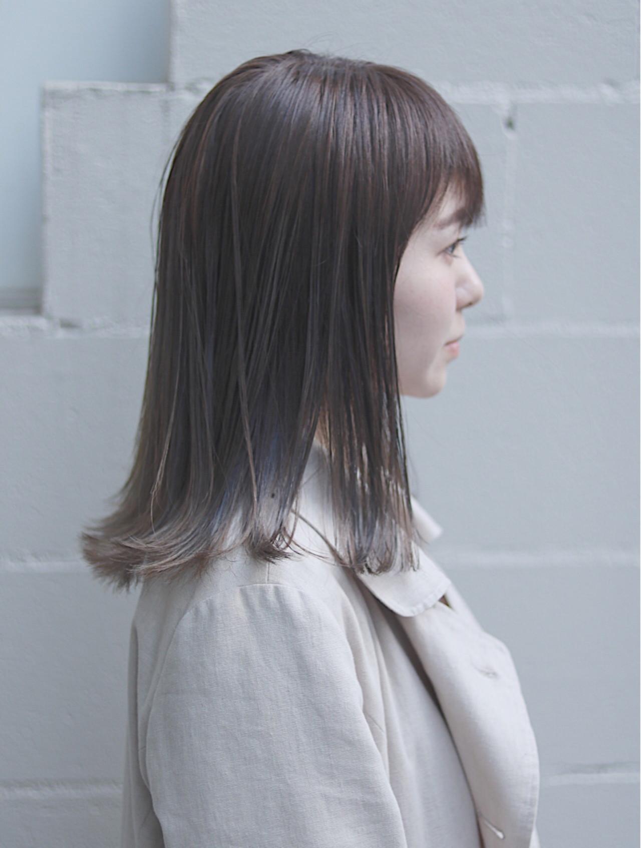 ナチュラル ミディアム デート イルミナカラー ヘアスタイルや髪型の写真・画像 | 首藤慎吾 / free-lance