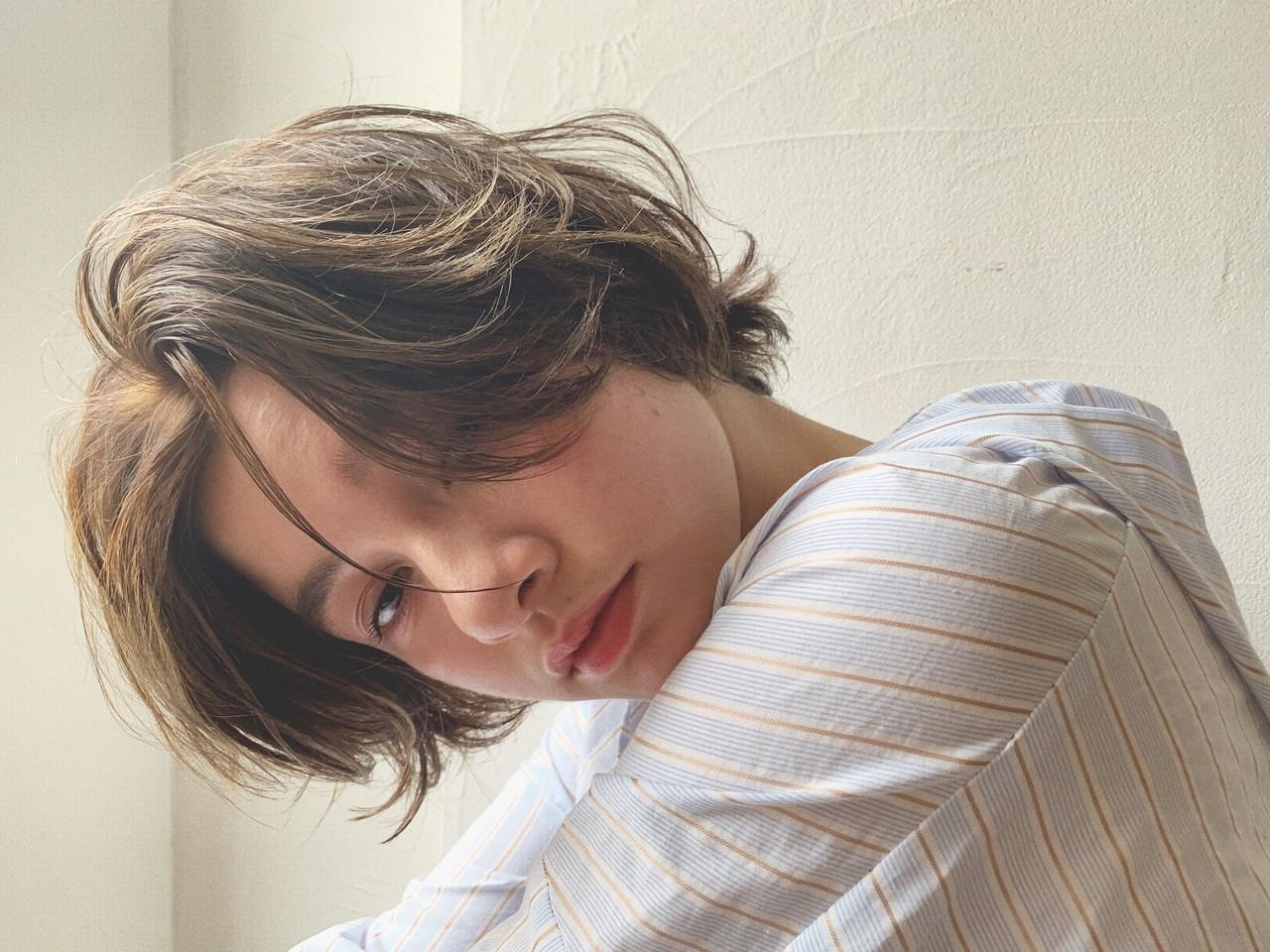 ショートヘア ミニボブ ショートボブ ハンサムショート ヘアスタイルや髪型の写真・画像