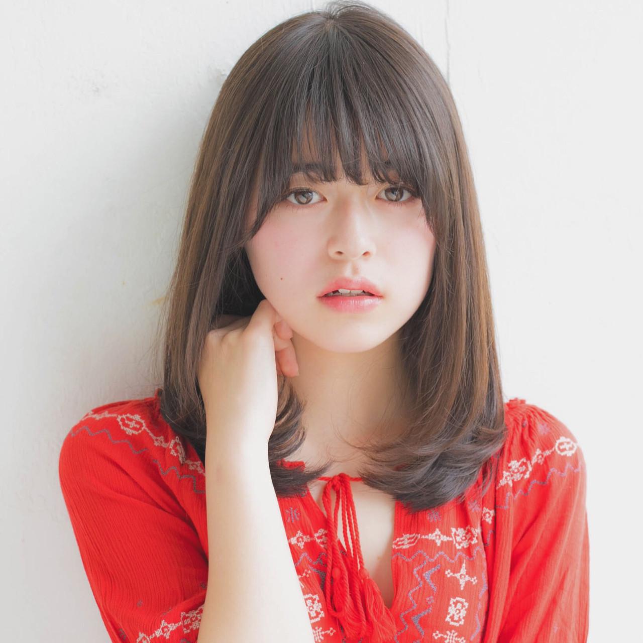ミディアム 大人かわいい 前髪あり 簡単ヘアアレンジ ヘアスタイルや髪型の写真・画像
