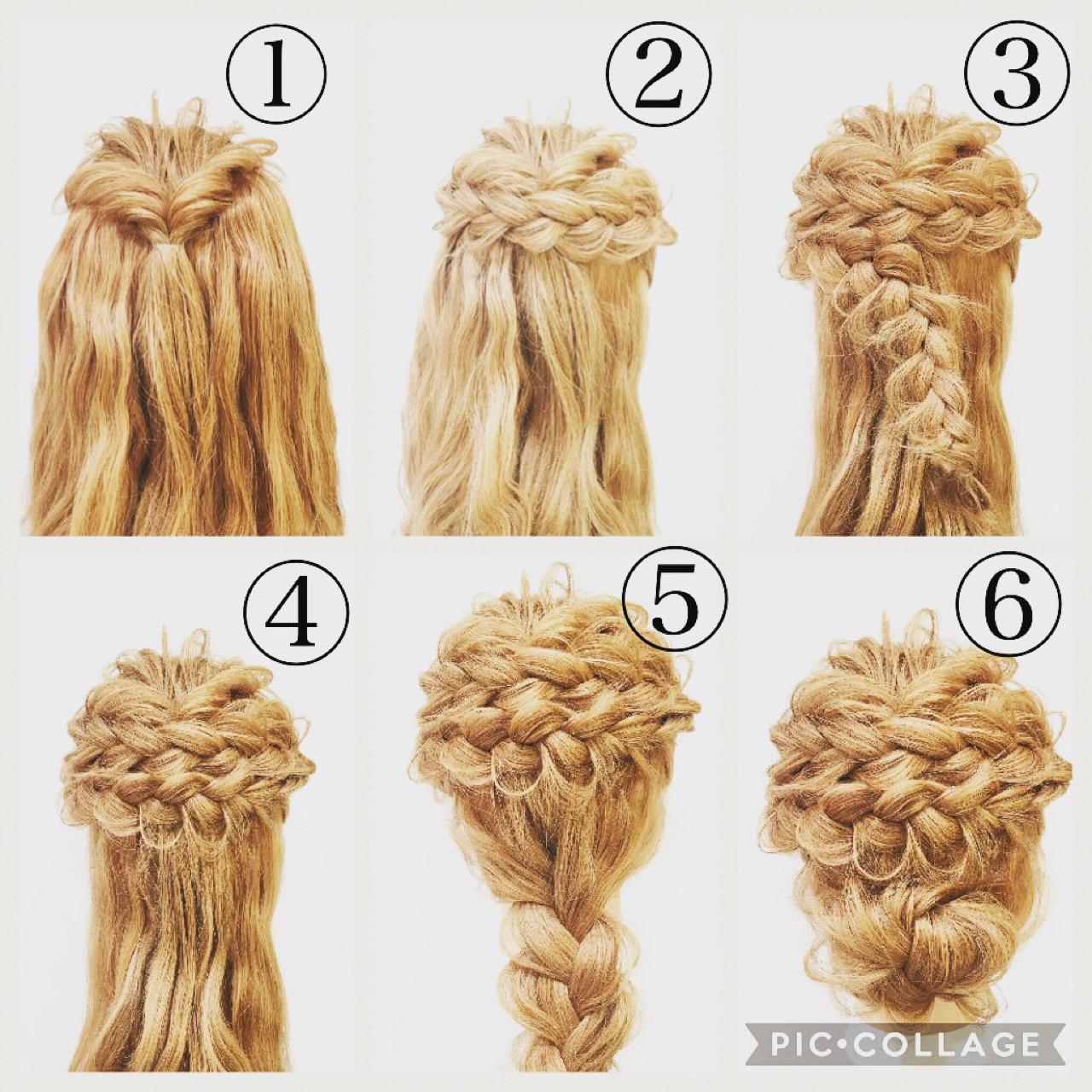 ナチュラル ヘアアレンジ 編み込み 大人女子 ヘアスタイルや髪型の写真・画像