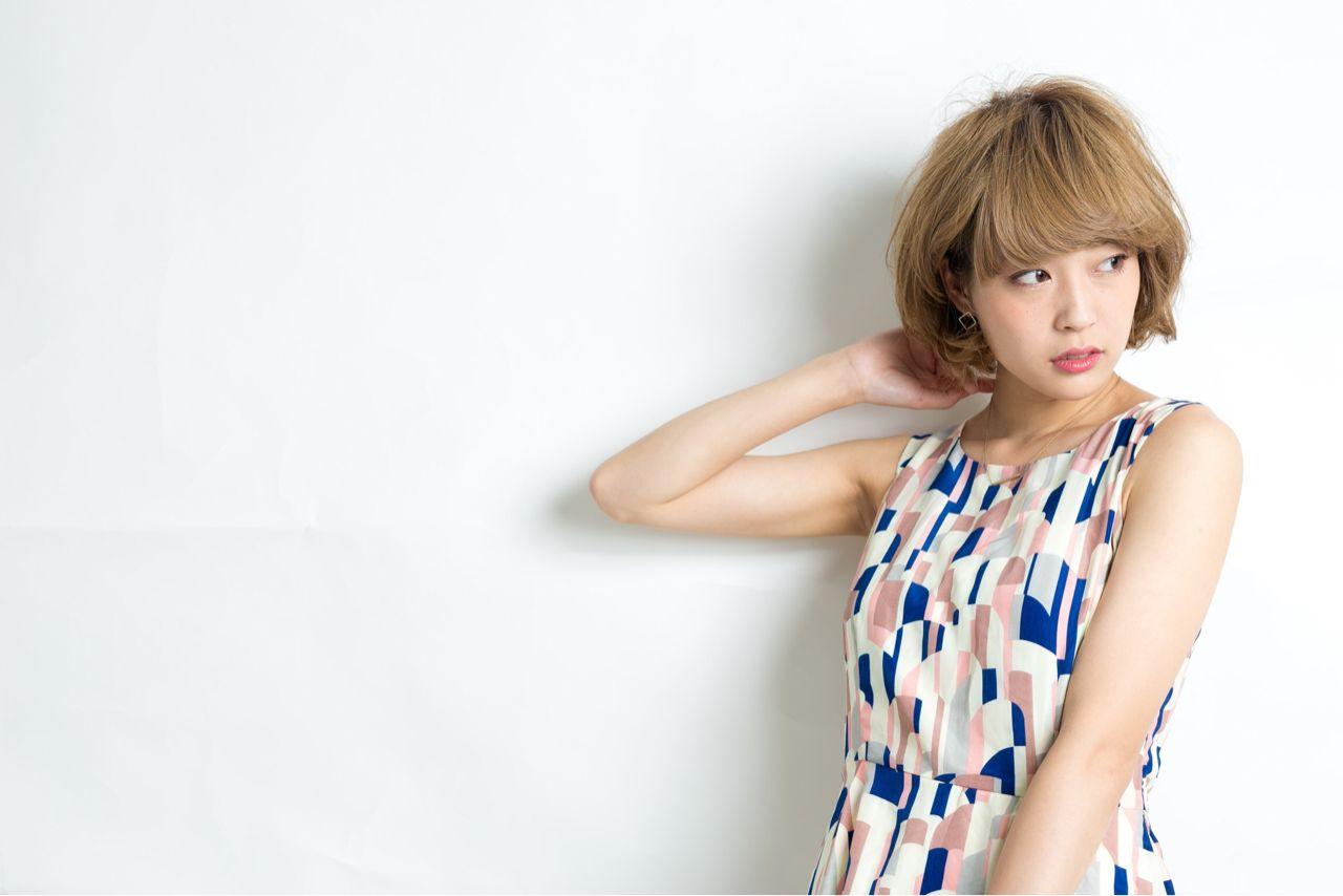 ショート 大人かわいい ゆるふわ ナチュラル ヘアスタイルや髪型の写真・画像 | 中川遥 /
